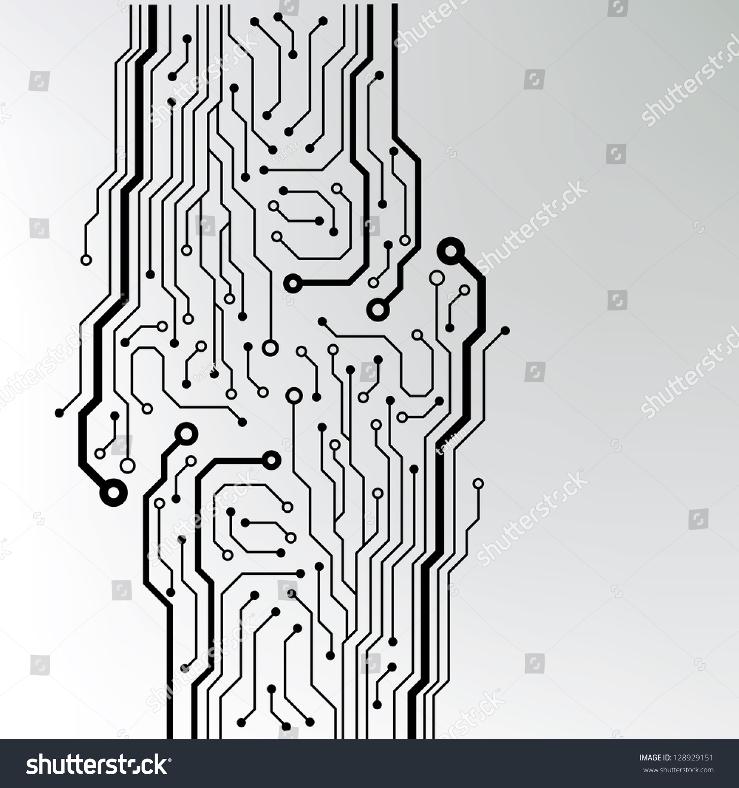 Abstract Technology Circuit Board Vector Background Stock Vector HD ...