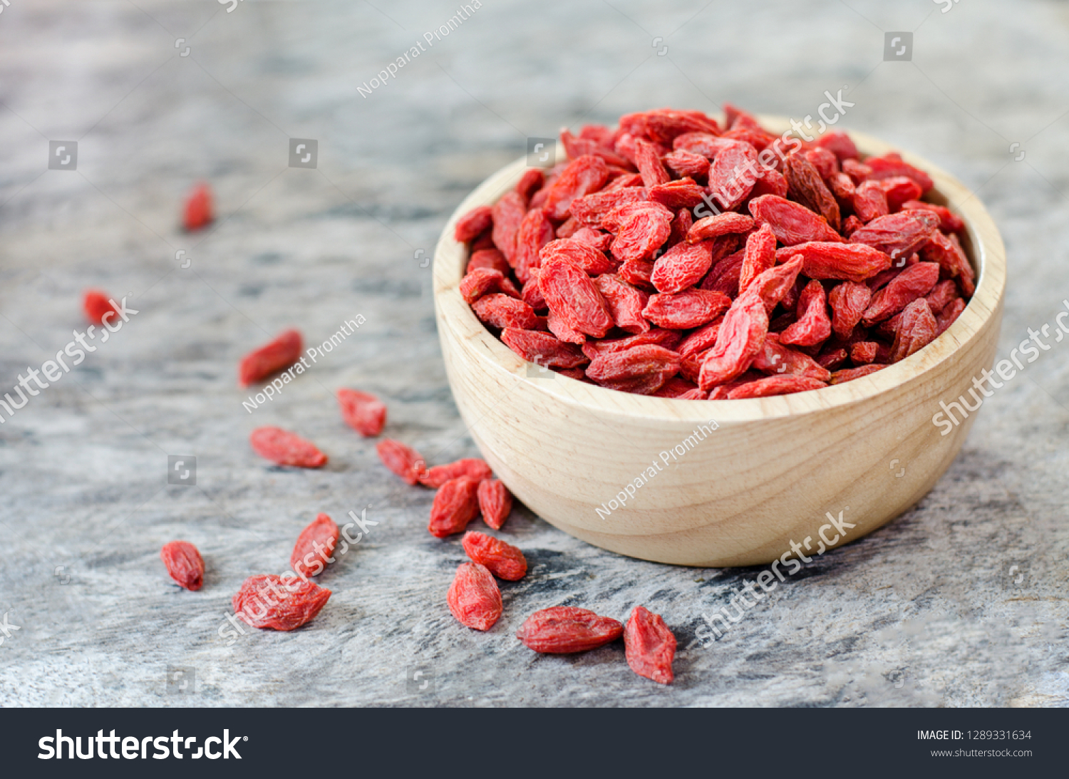 Closed Dry Goji Berry Seeds Wooden Stock Photo Edit Now 1289331634