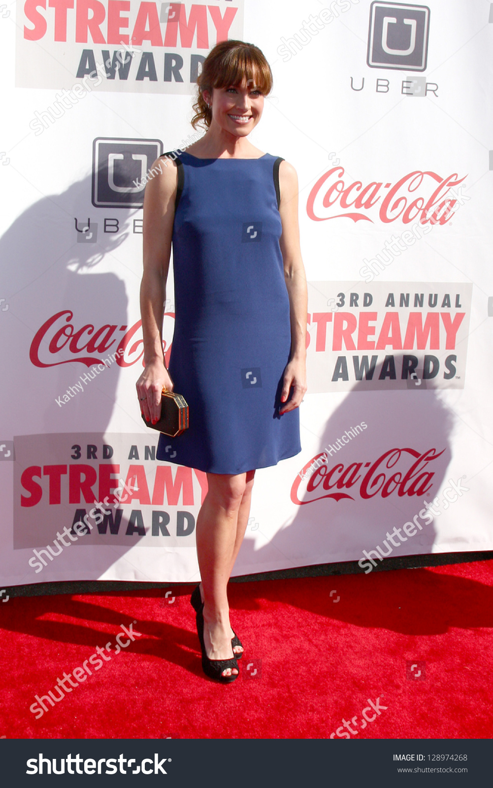 los angeles feb 17 nikki deloach arrives at the 2013 streamy awards at the hollywood. Black Bedroom Furniture Sets. Home Design Ideas