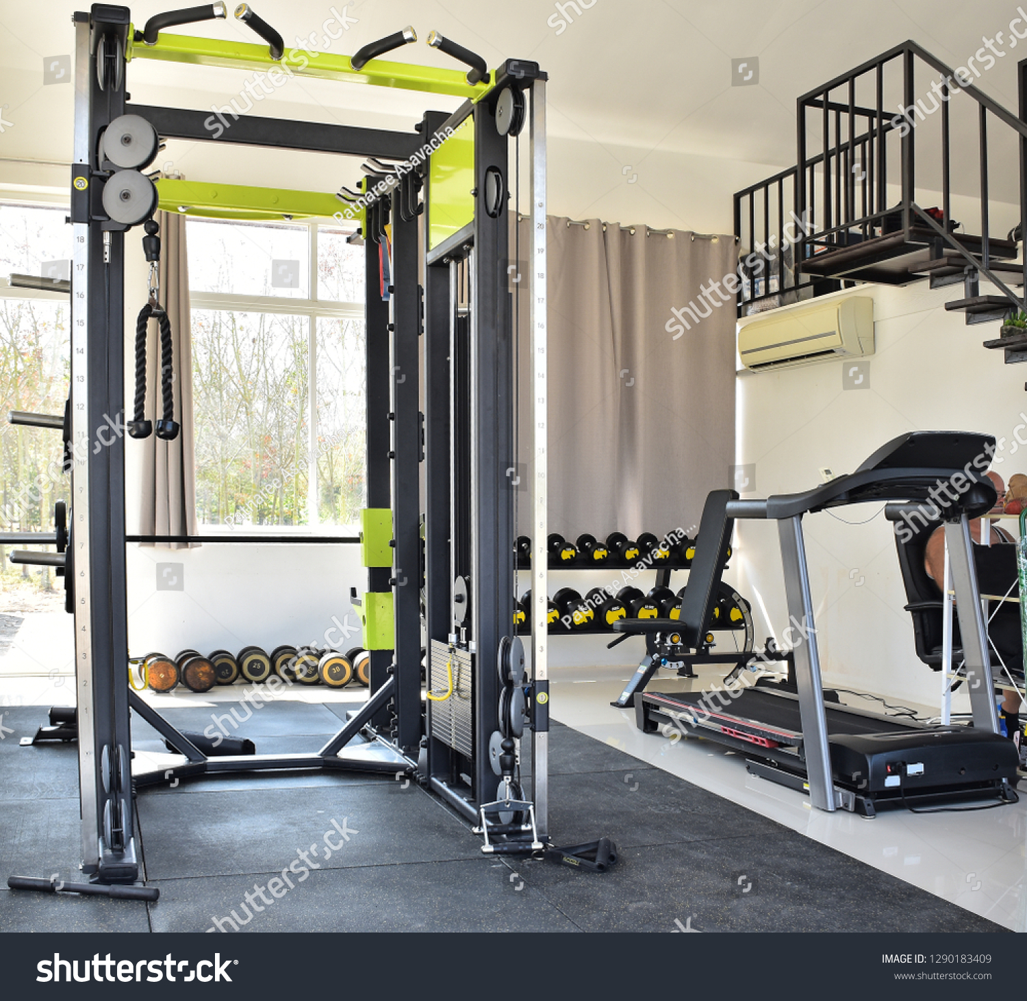 Home gym private gym home luxury stock photo edit now