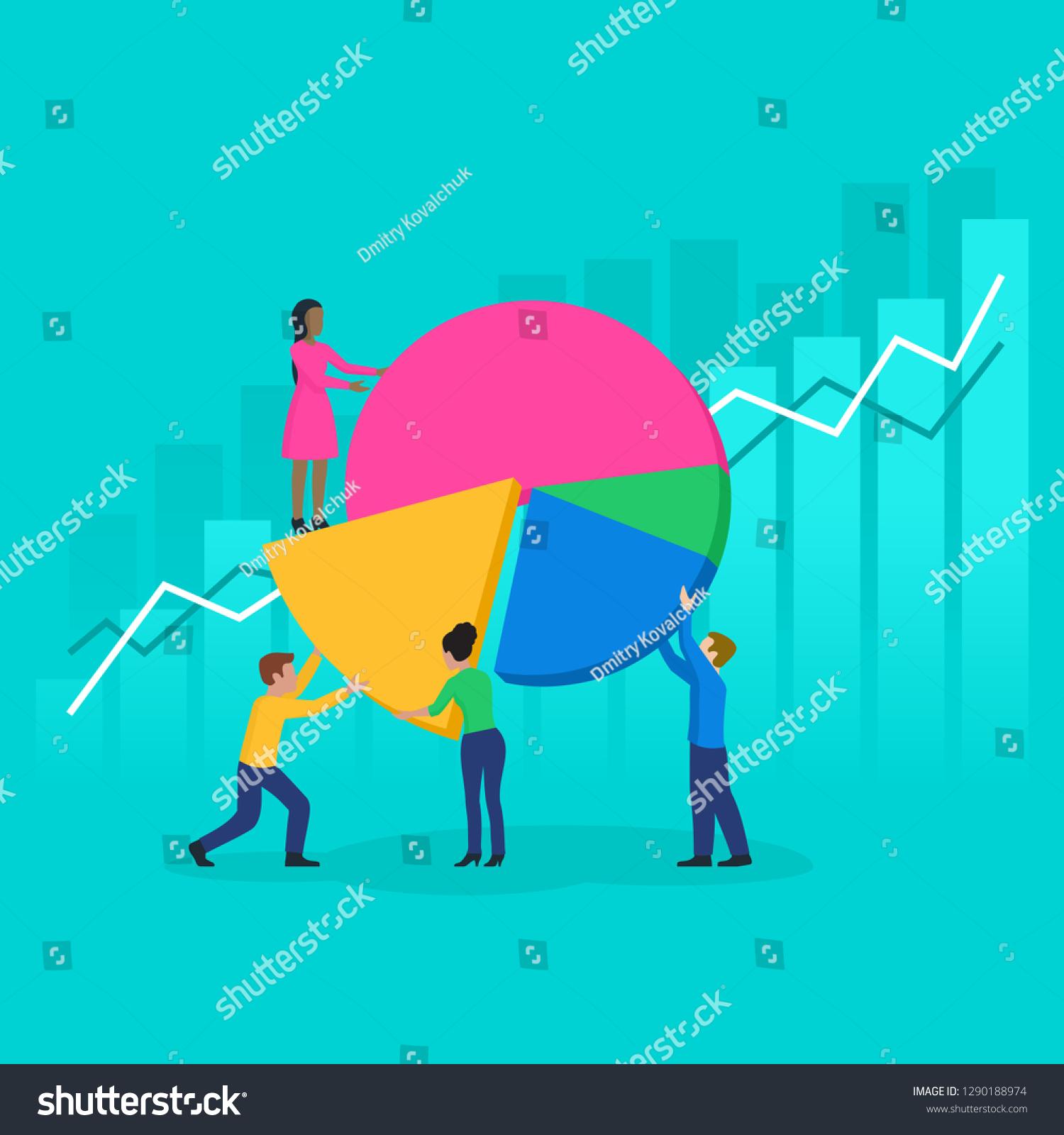 Teamwork Data Analysis Corporate Strategy People Stock Vector