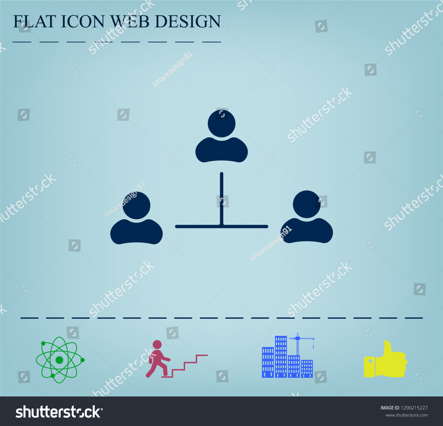 Three People Connected Network Symbol Download Stock Vector