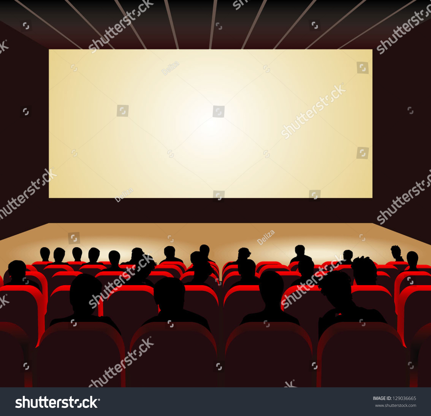 people watching movie cinema hall vector stock vector