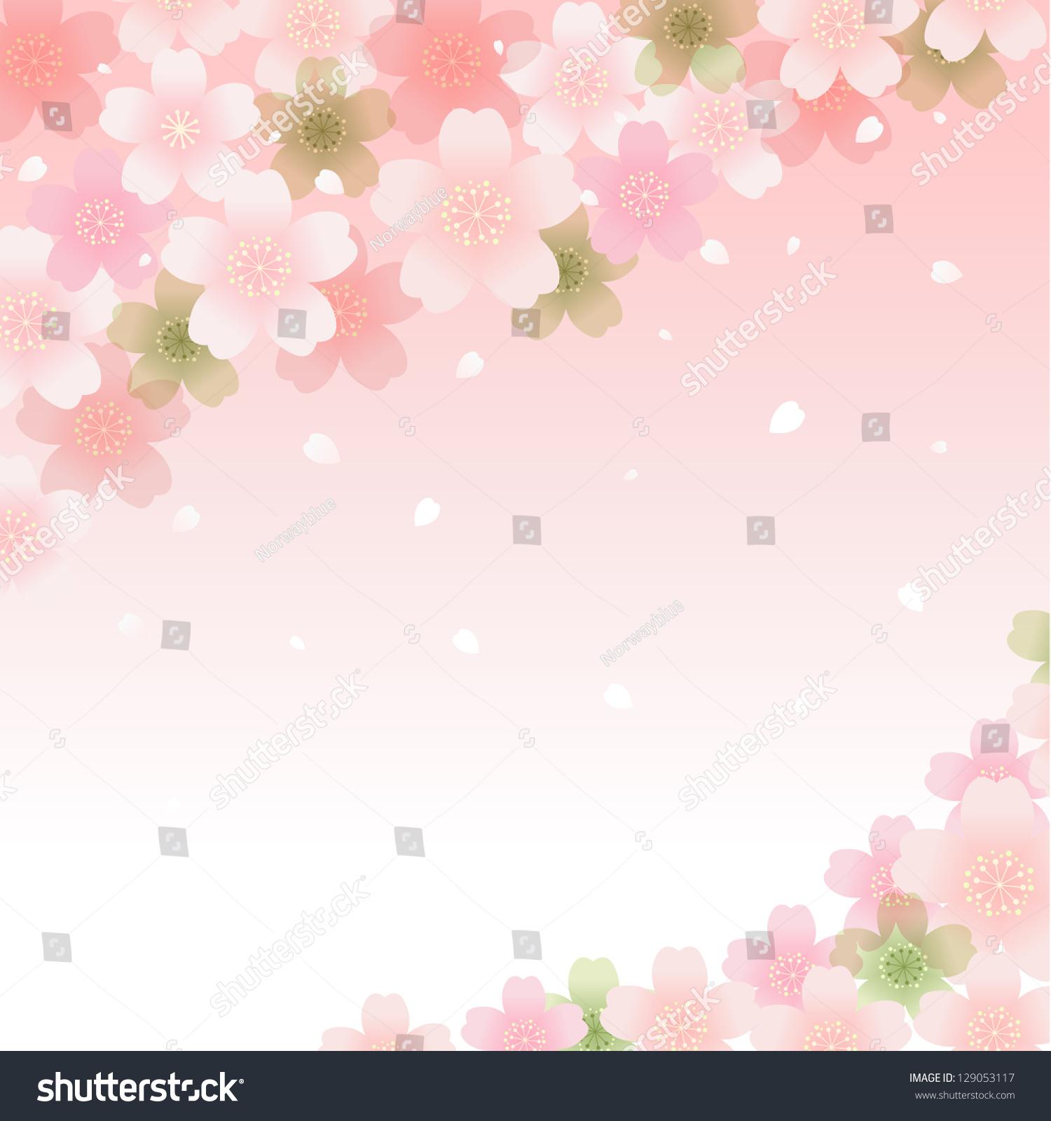 Background image transparency - Sakura Cherry Blossom Background Transparency Gradients Clipping Mask Is Used Eps10