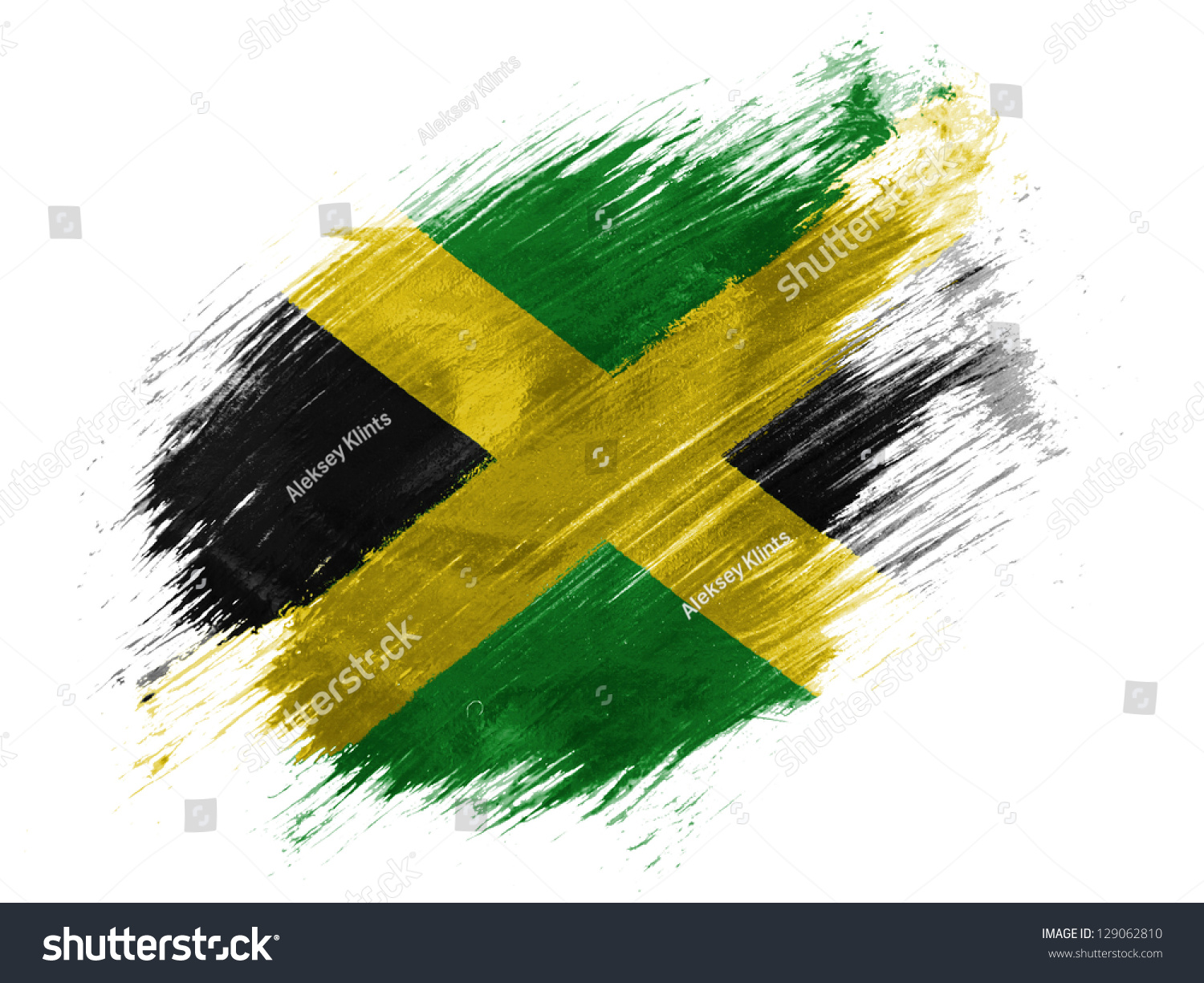Jamaican Flag Painted On Wooden Boards Grunge Style Stock Photo ...