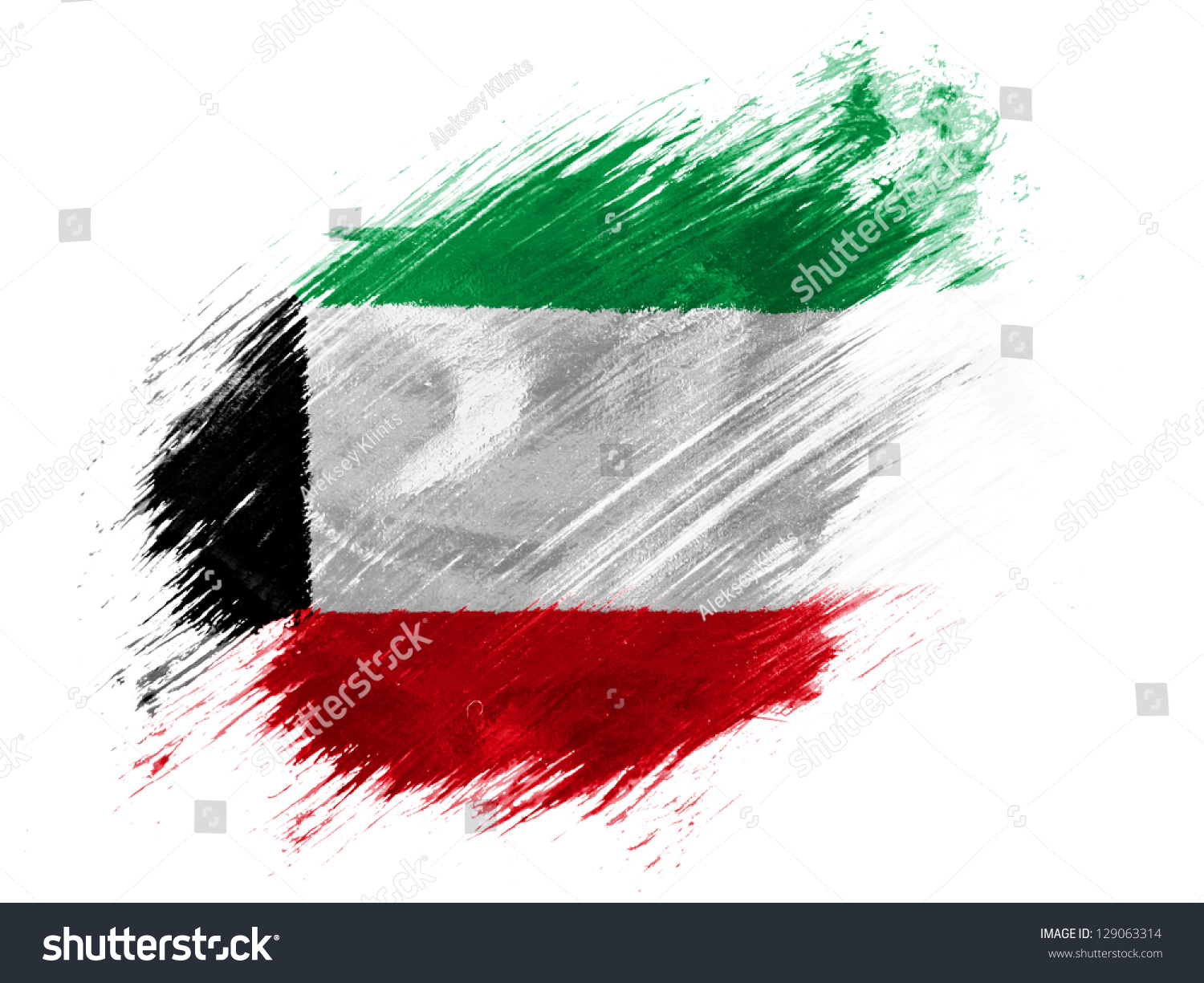 kuwait kuwaiti flag painted brush on stock illustration patriotic clipart patriotic clip art background