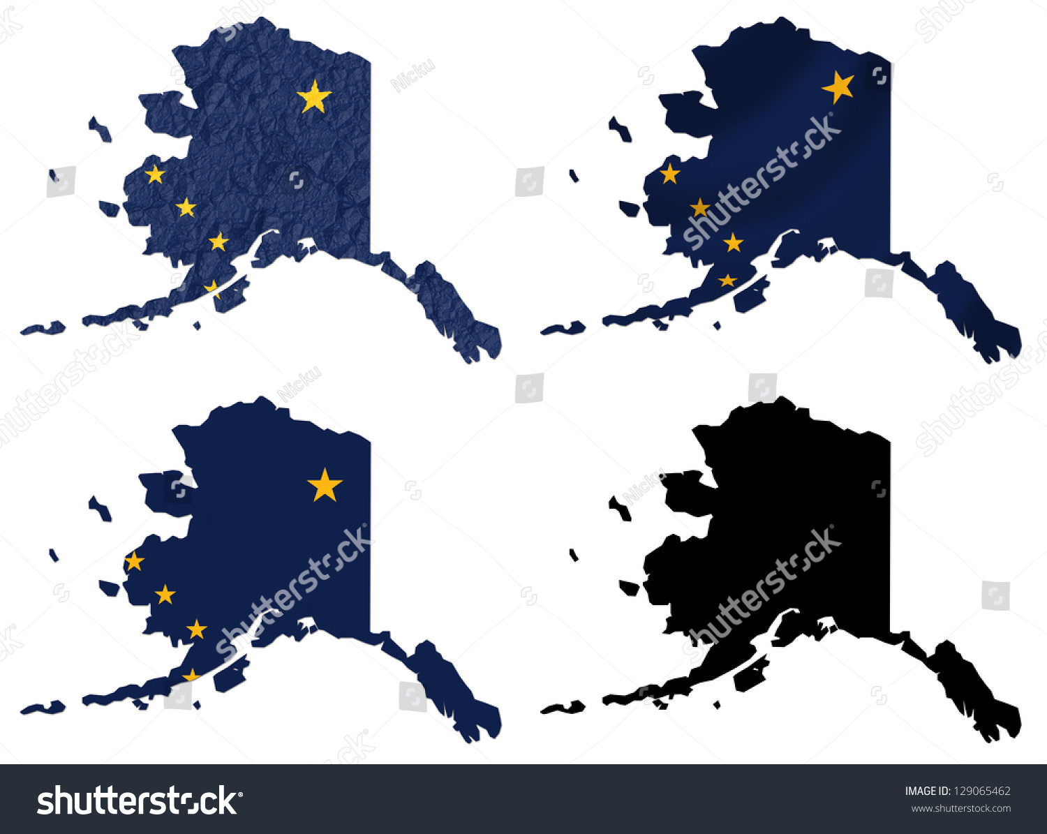 Us Alaska State Flag Over Map Stock Illustration - Alaska over the us map