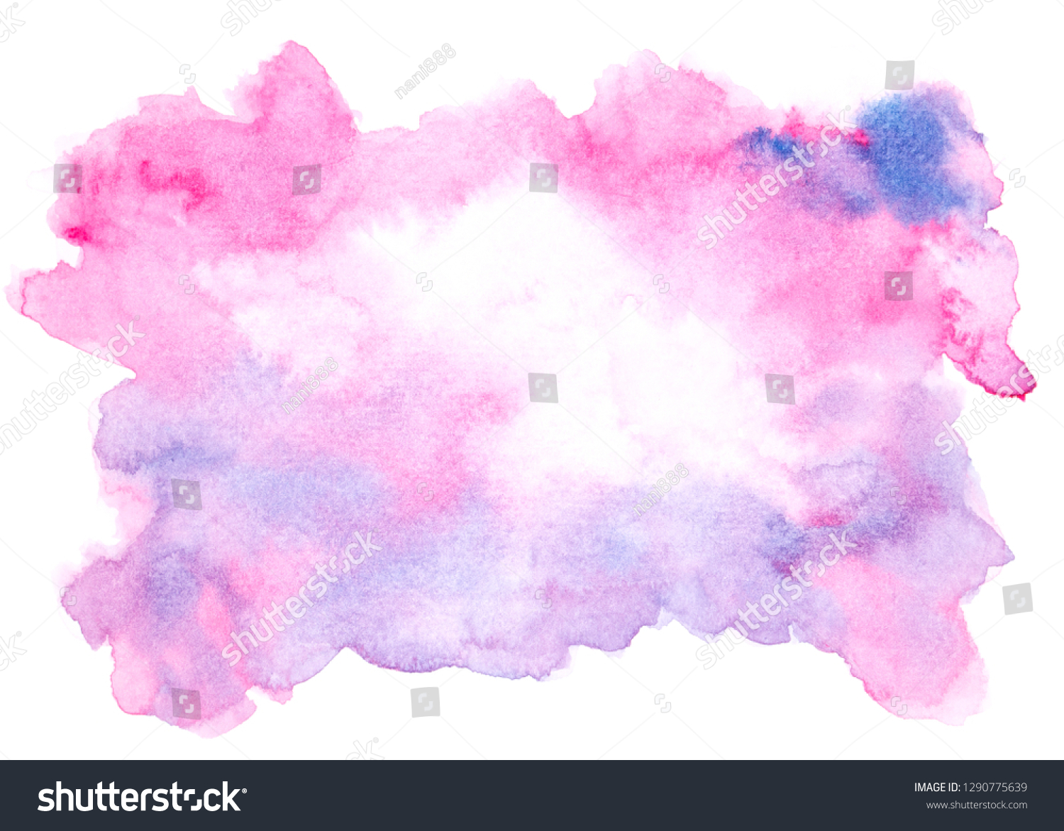 Purple Watercolor Painting Ideas Colorful Shades Stock Illustration 1290775639