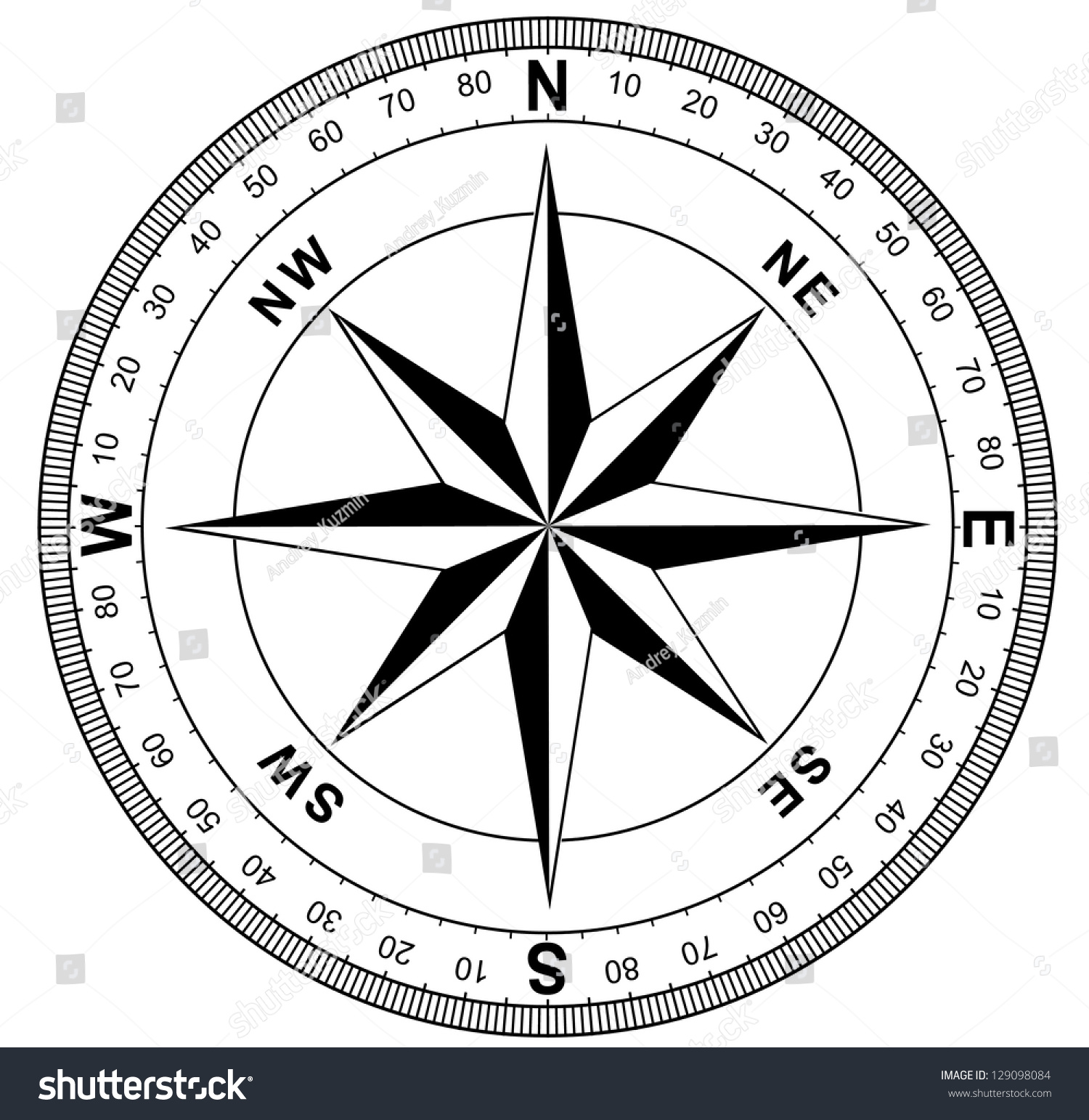 how to draw a perfect compass rose