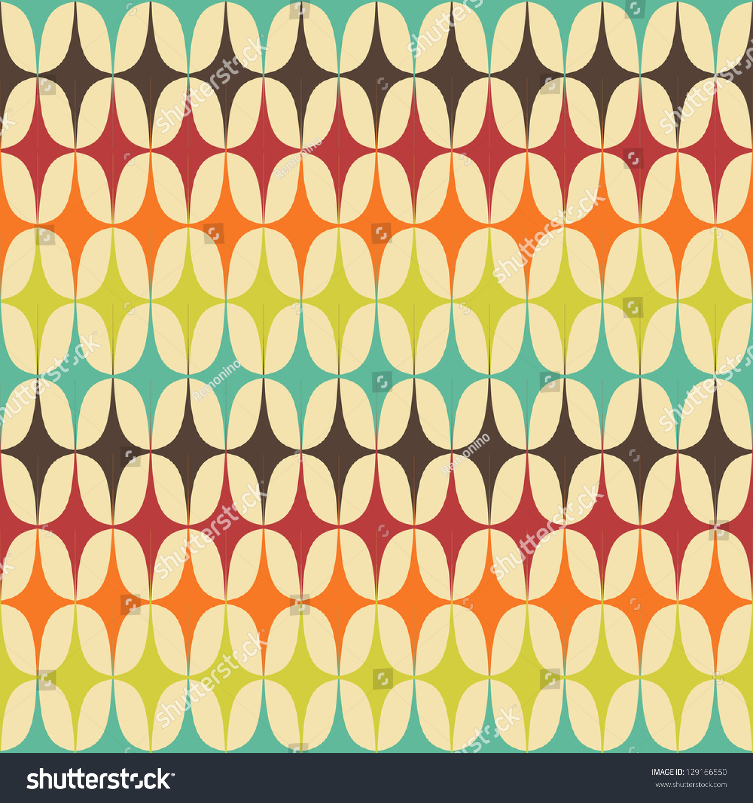 Abstract retro geometric seamless pattern triangles stock for Retro images