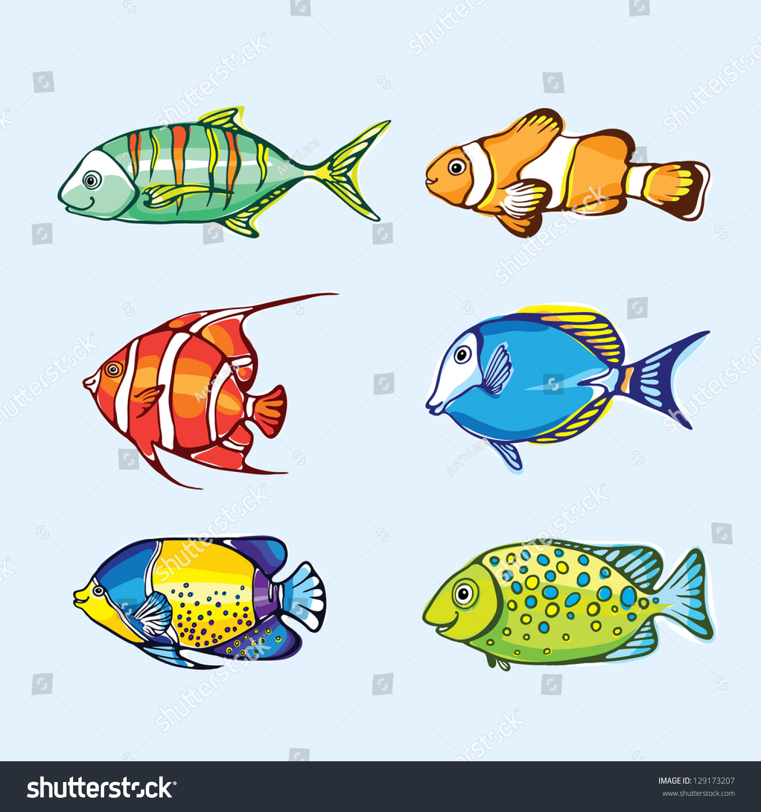 Funny fish illustration stock vector 129173207 shutterstock for Funny fishing songs