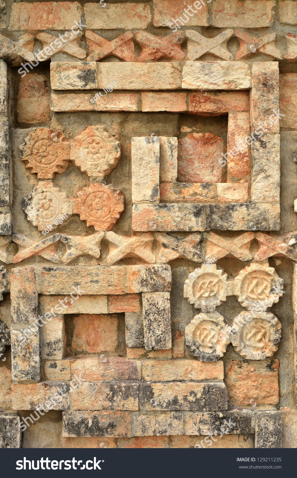 Ancient Mexican Designs And Symbols On The Pyramids Of The Maya Of