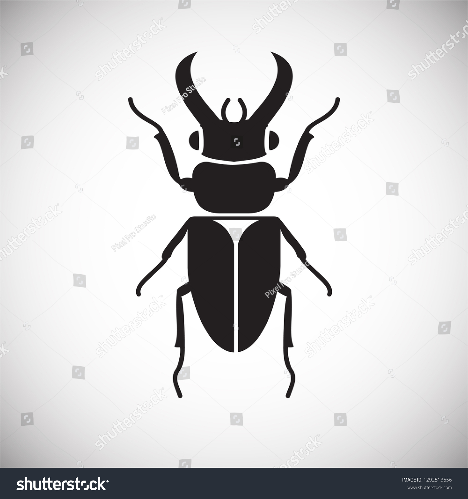 Bug Insect Icon On White Background Stock Vector (Royalty