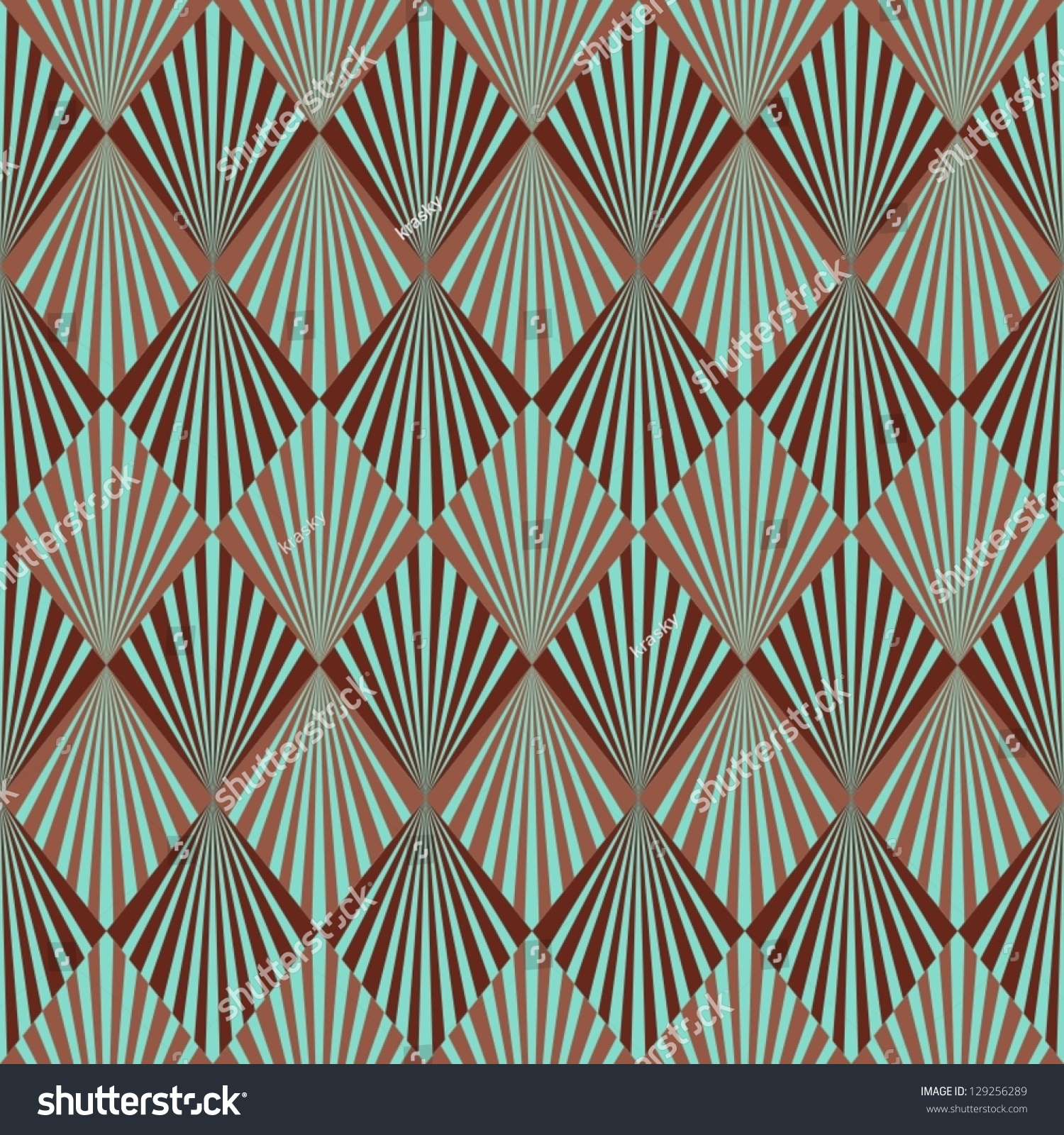 Home Decor Logo Art Deco Style Seamless Pattern Texture Stock Vector