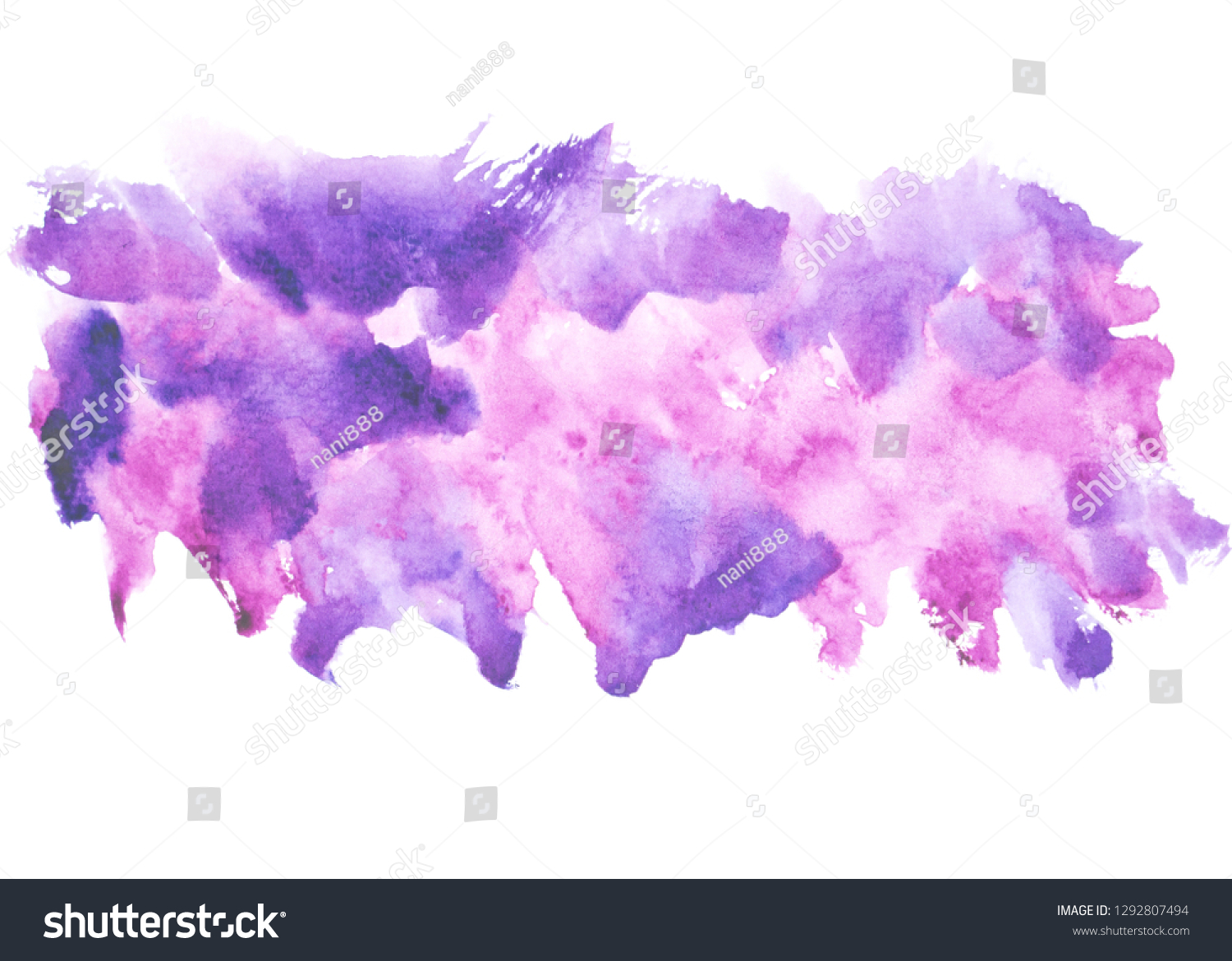 Purple Watercolor Painting Ideas Colorful Shades Stock Illustration 1292807494