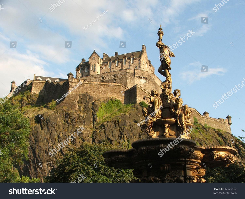 Edinburgh Castle Princes Street Gardens Stock Photo (Edit Now ...