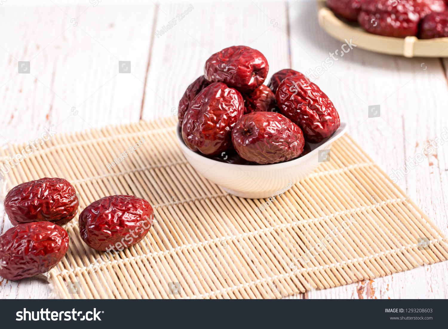 Dried dates, dried dates, dried fruit food #1293208603