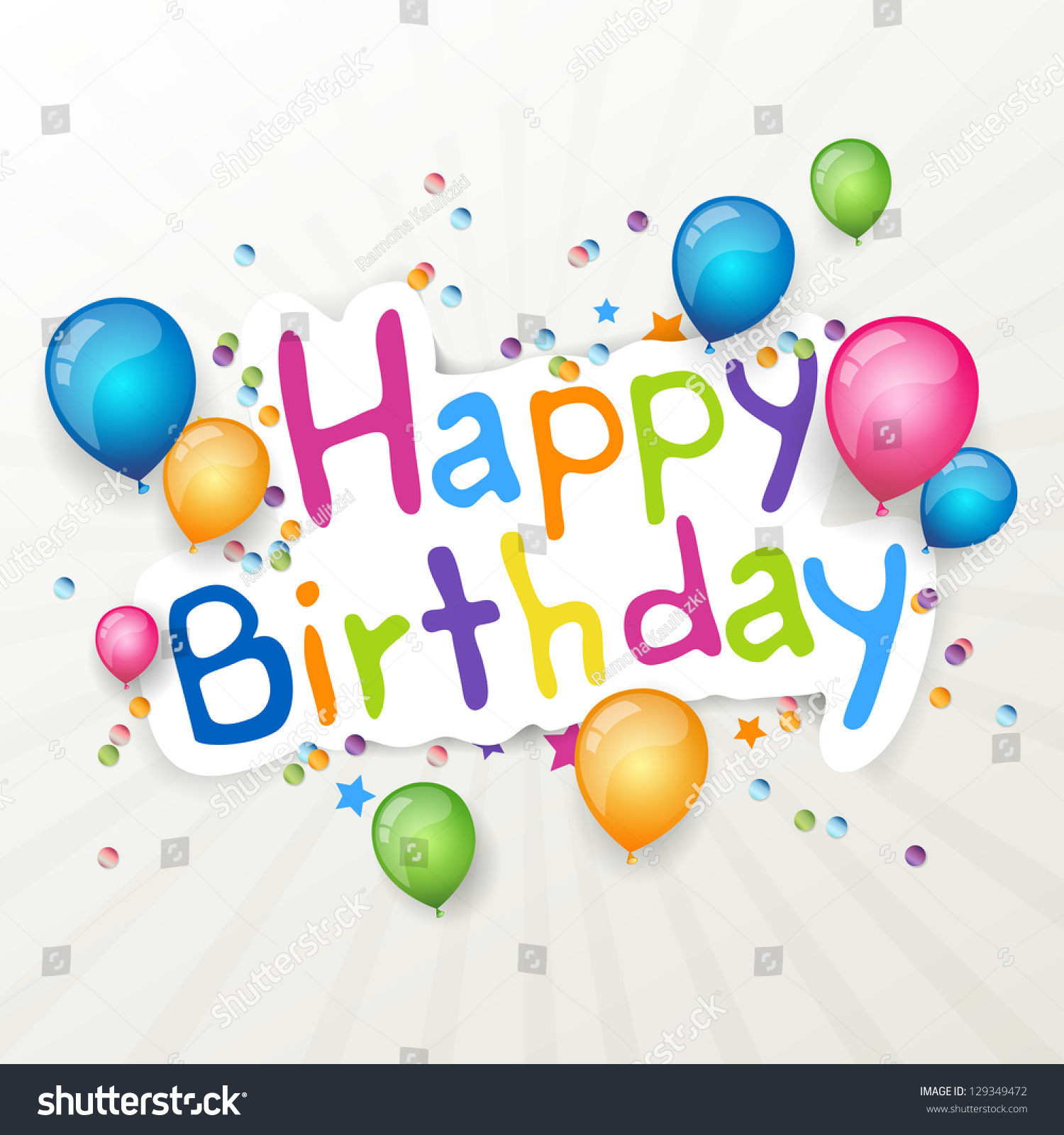 vector illustration happy birthday greeting card stock vector, Birthday card