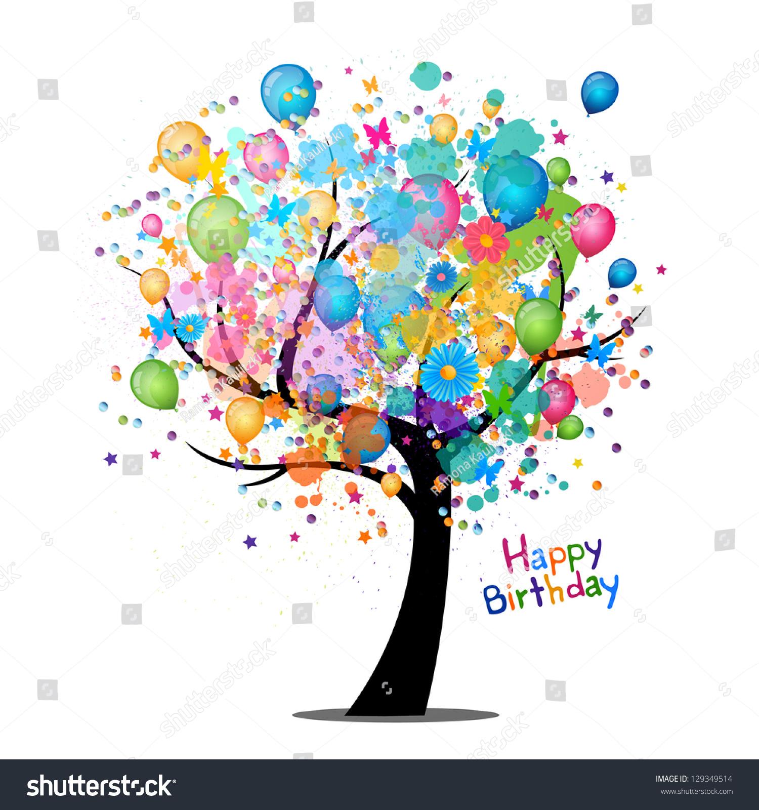 Royalty Free Vector Illustration Of A Happy Birthday 129349514