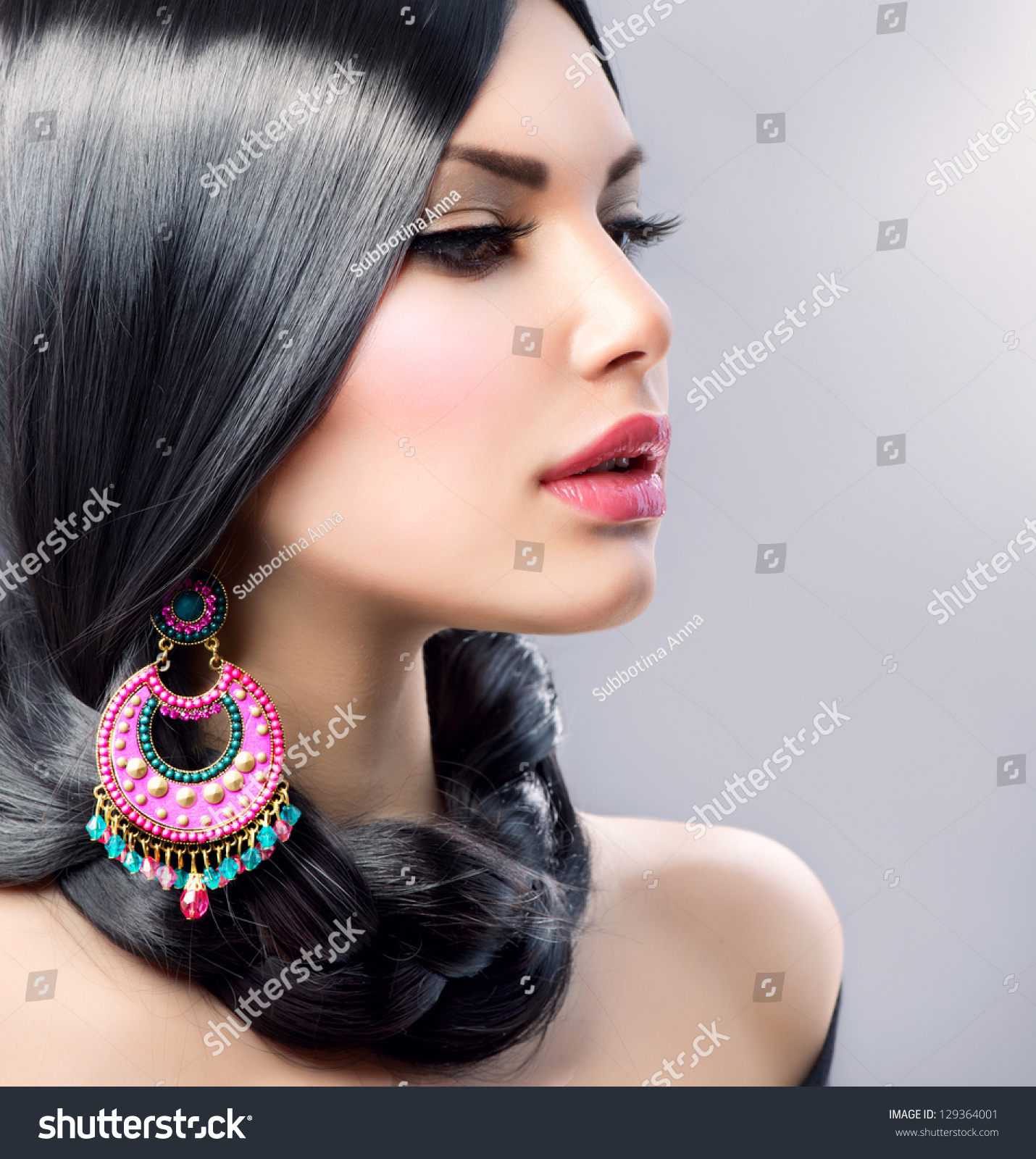 earrings girl hair makeup - photo #44