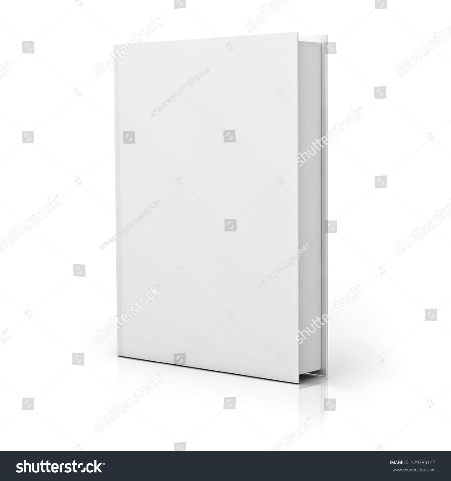 Blank Book Cover Background : Blank book cover over white background stock photo