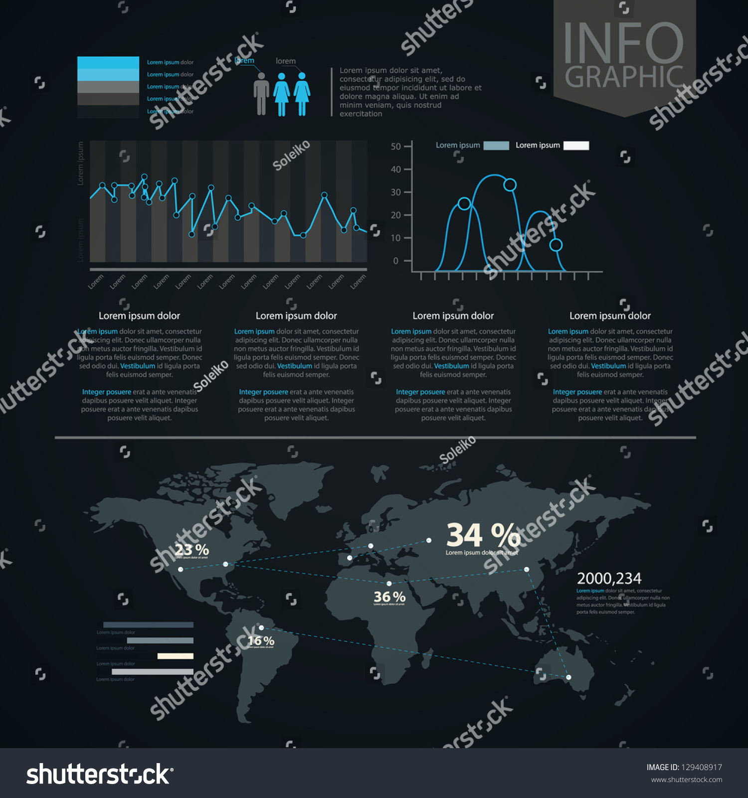 World map information graphics set infographic stock vector world map and information graphics set of infographic elements gumiabroncs Image collections