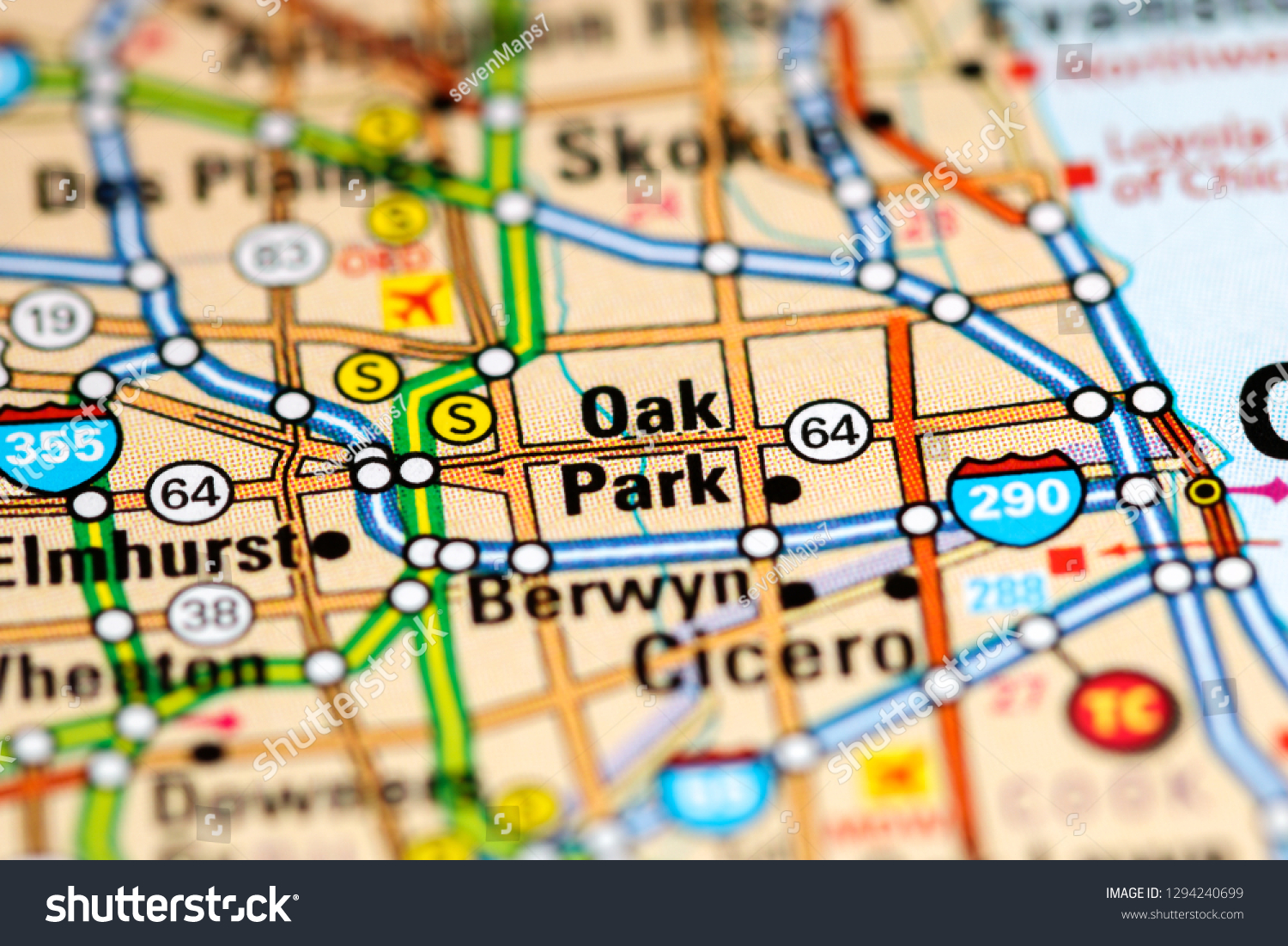 Oak Park California Map.Oak Park Illinois Usa On Map Stock Photo Edit Now 1294240699