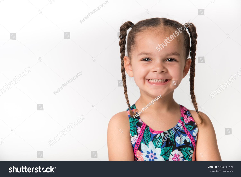 Mixed Race Preschooler Big Happy Smile Stock Photo Edit Now 1294395799