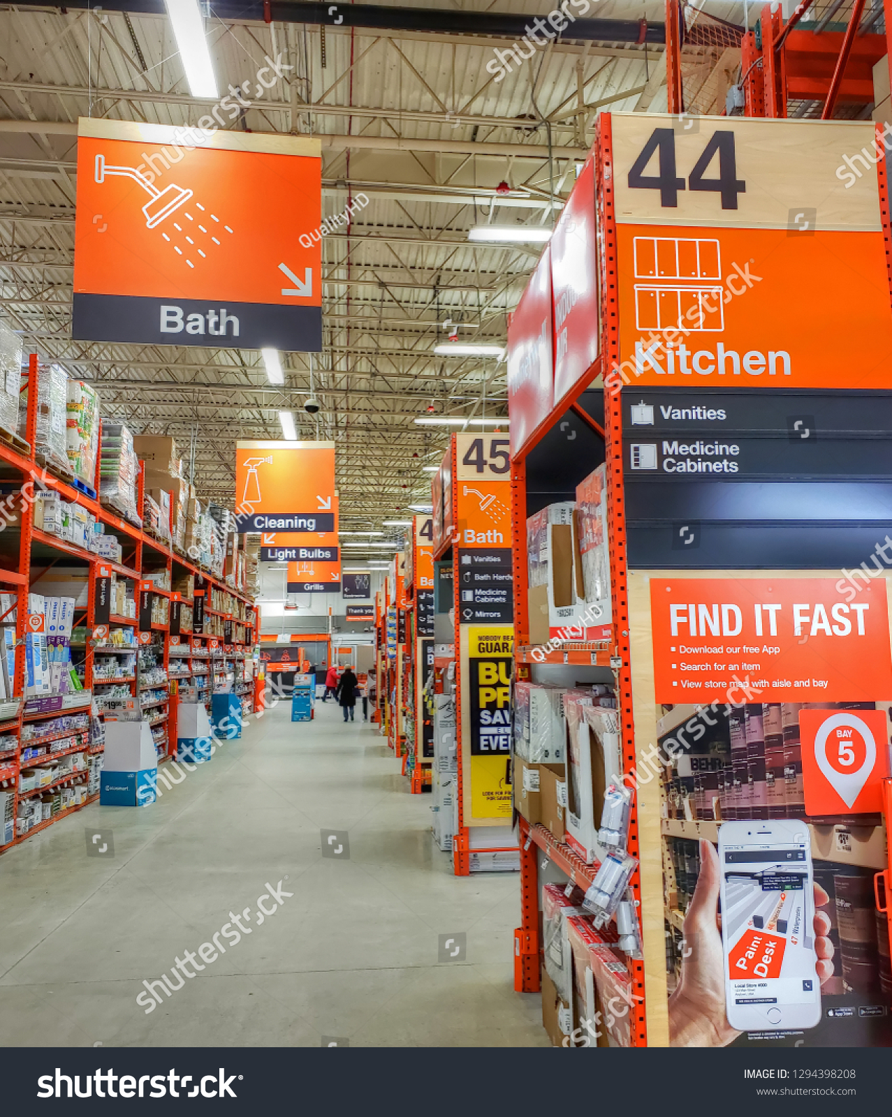 Home Depot Smartphone App Finds Store Stock Photo (Edit Now ...