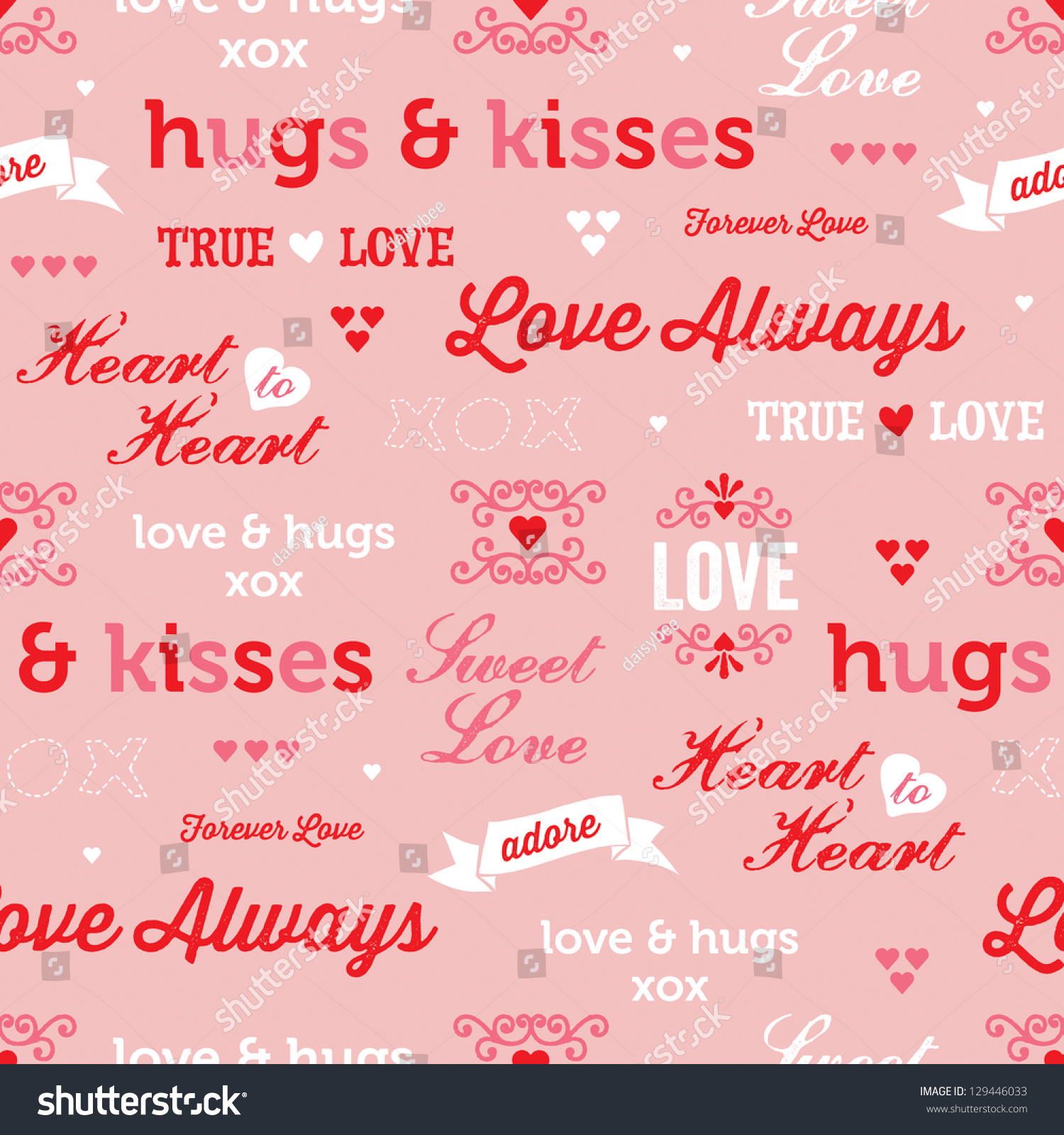 Jpeg Seamless Love Background Use Valentines Stock Illustration