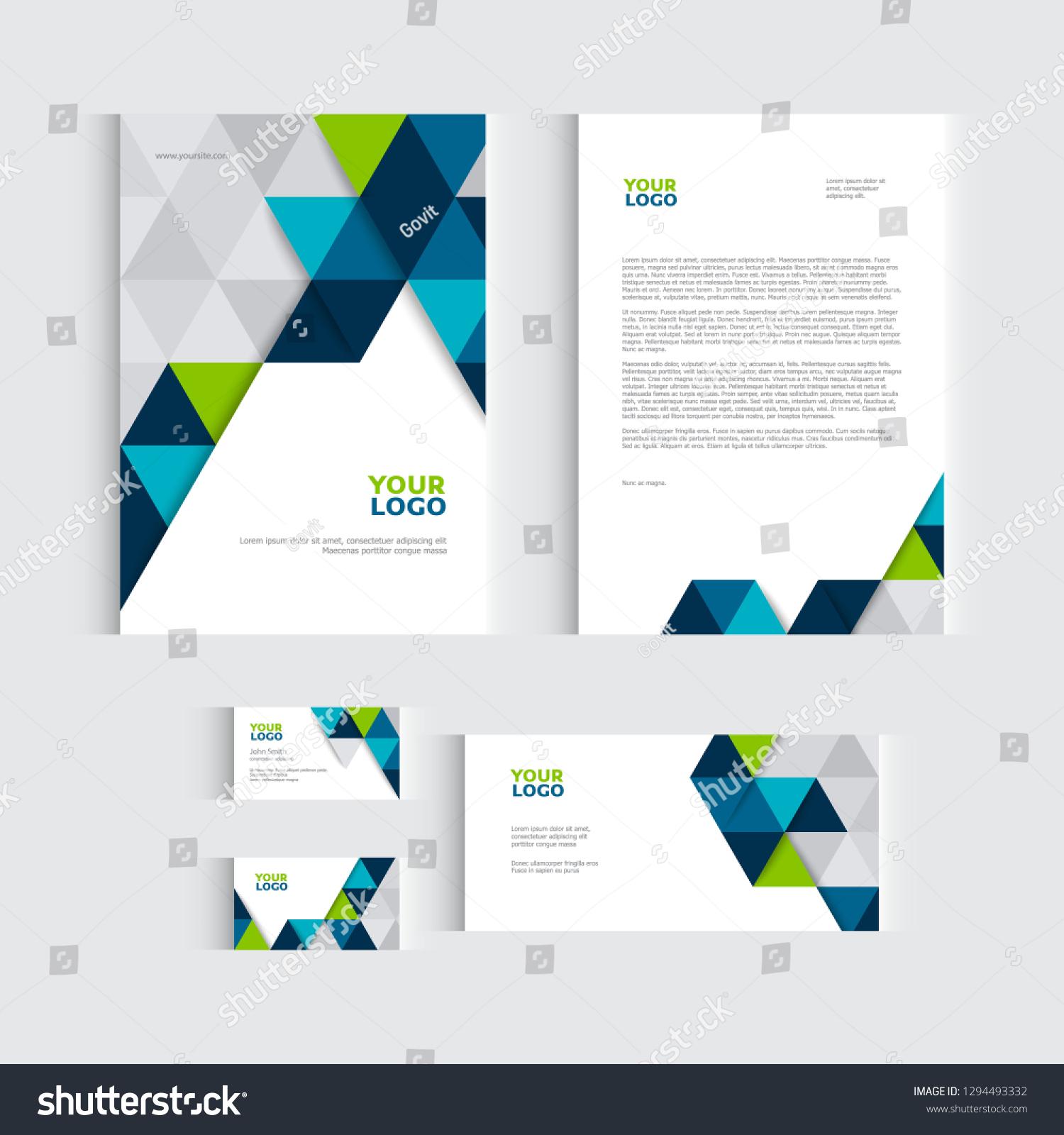 Brochure Flyer Report Vector Business Template Stock Vector Royalty