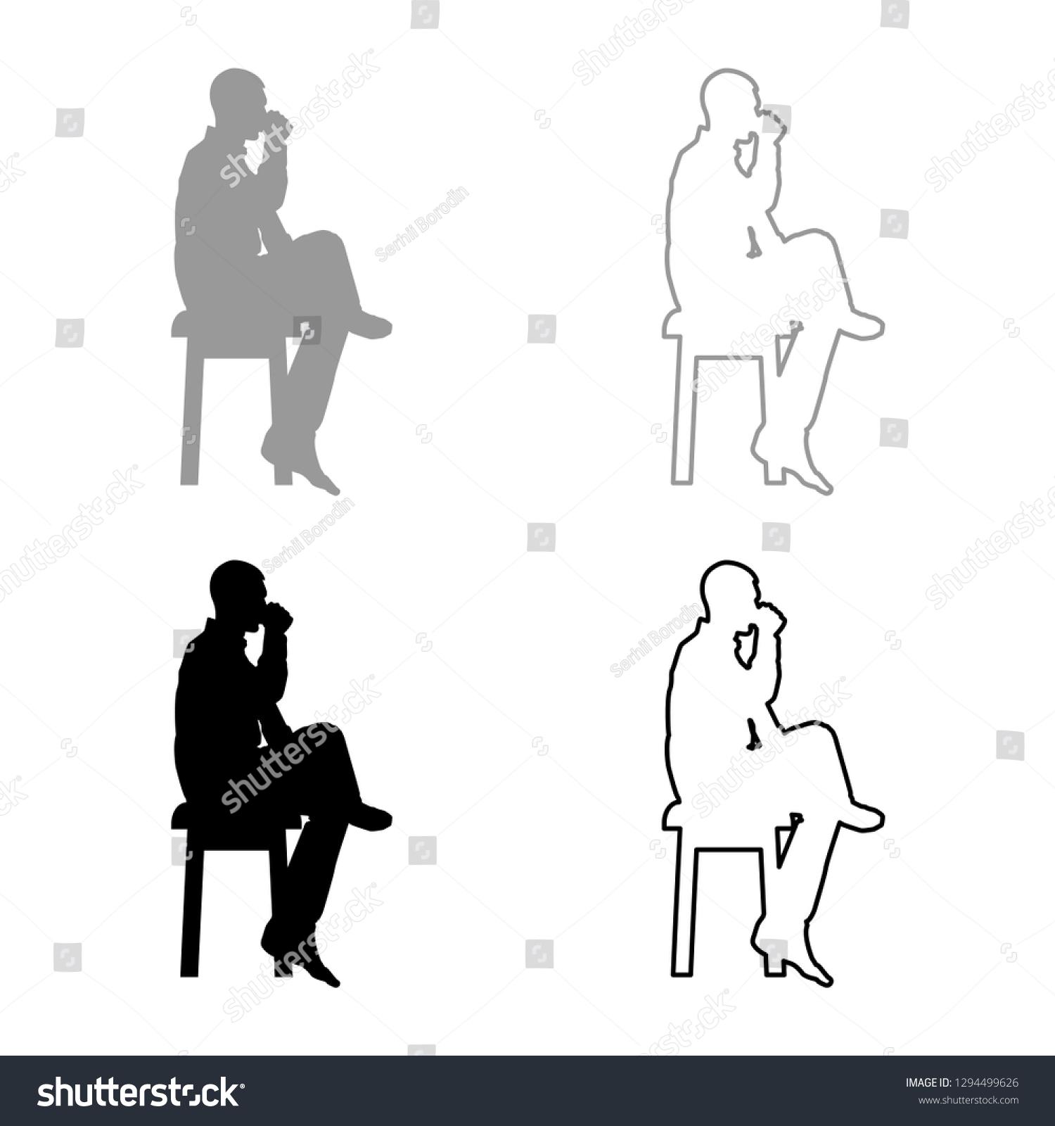 Brilliant Man Drinking Mug Sitting On Stool Stock Vector Royalty Free Forskolin Free Trial Chair Design Images Forskolin Free Trialorg