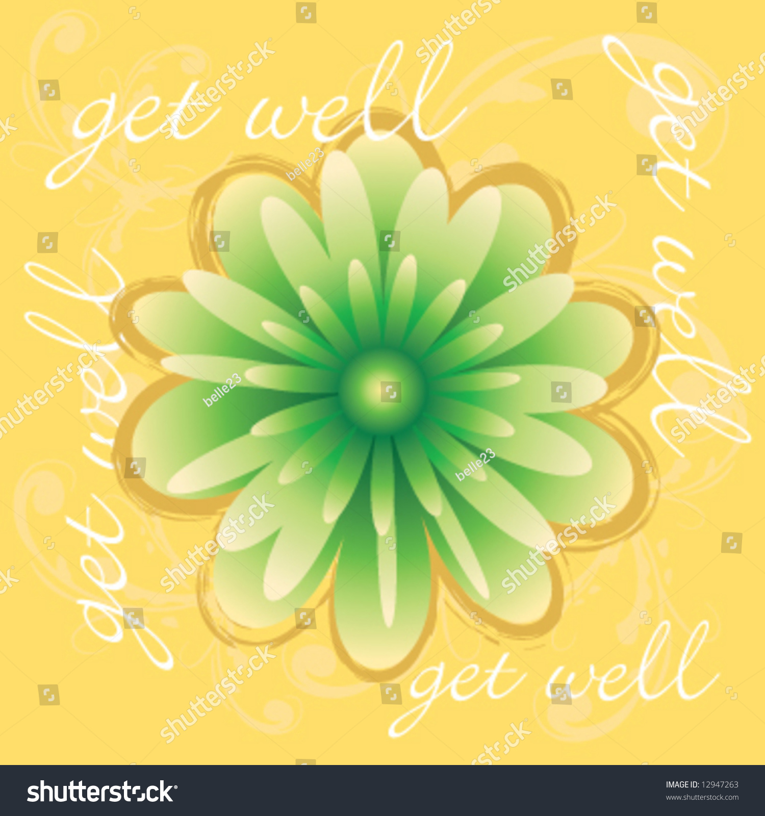 Vector Get Well Greeting Card Stock Vector 12947263 Shutterstock