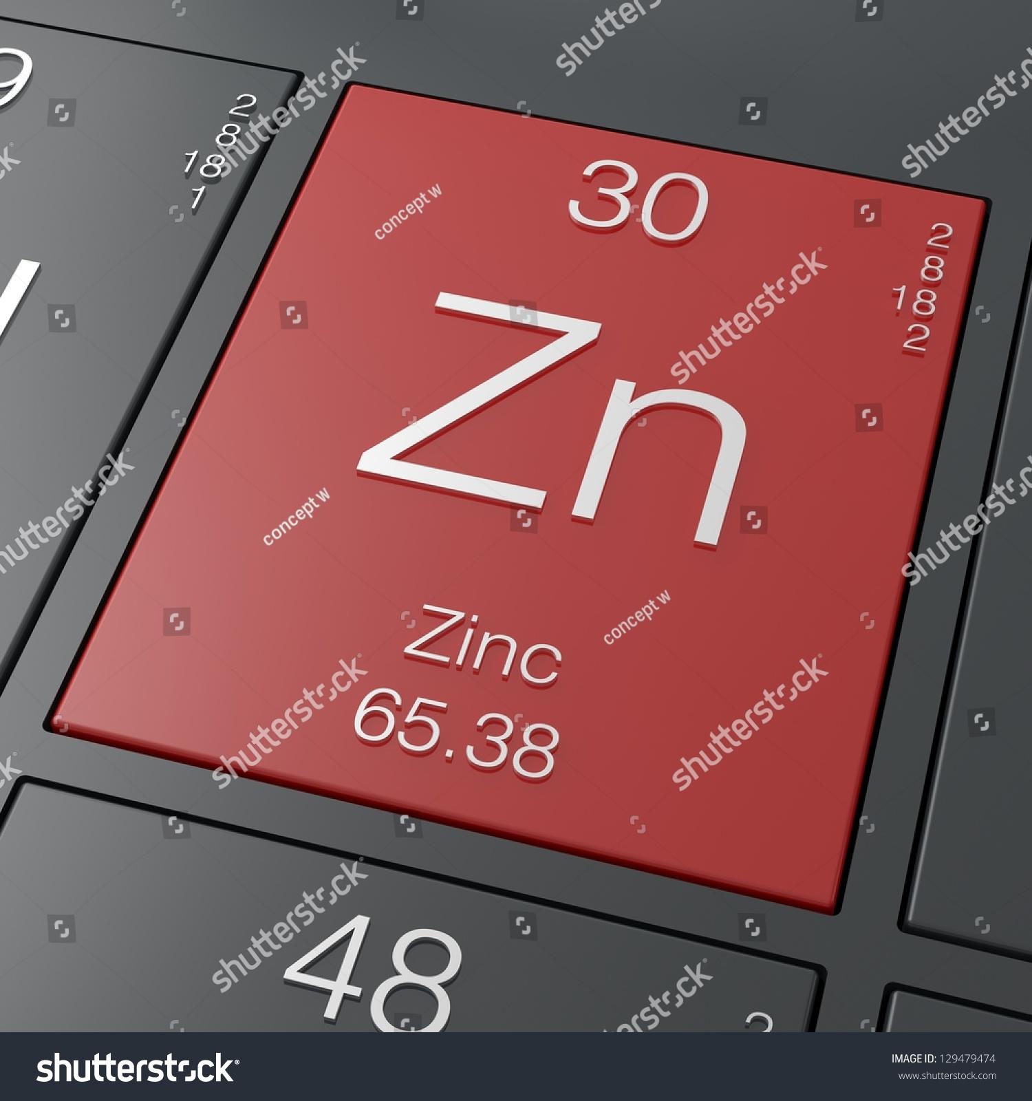 Zinc element periodic table stock illustration 129479474 zinc element from periodic table gamestrikefo Gallery
