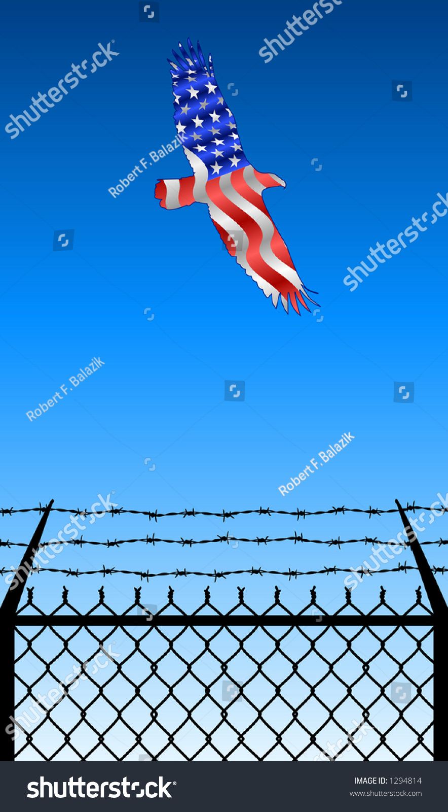 Prison Fence Graphic vector silhouette graphic depicting prison fence stock vector