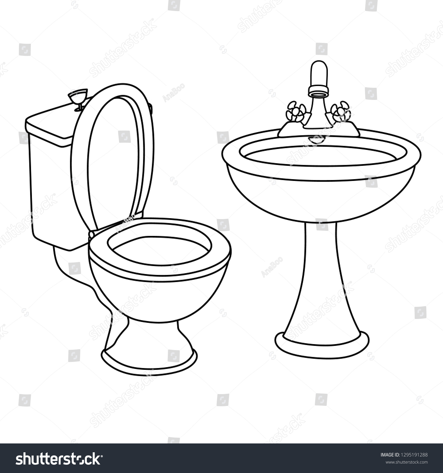 Sink Coloring Page - Ultra Coloring Pages | 1600x1500