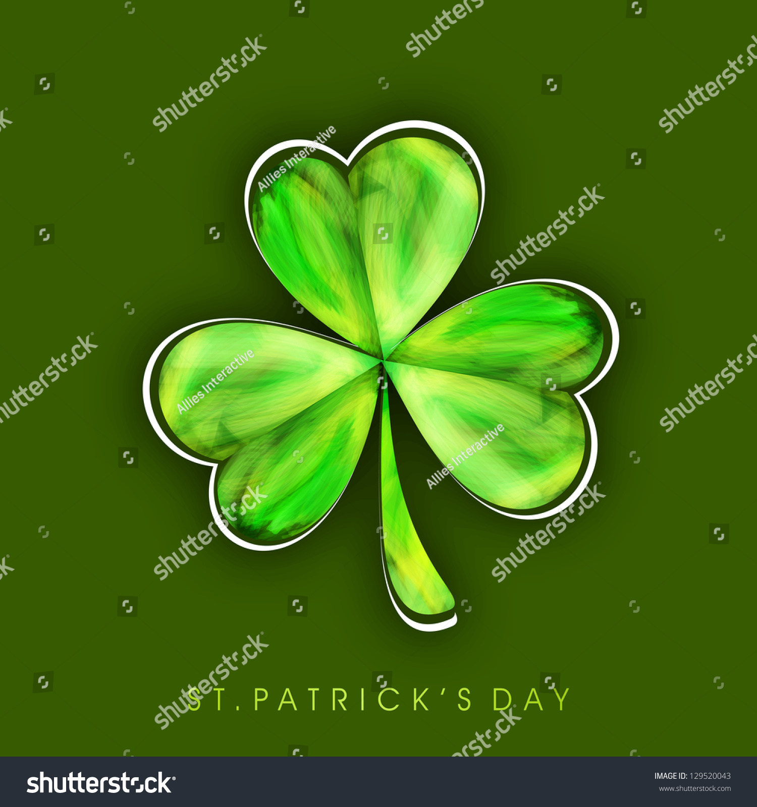 Irish shamrock leave background happy st stock vector 129520043 irish shamrock leave background for happy st patricks day biocorpaavc