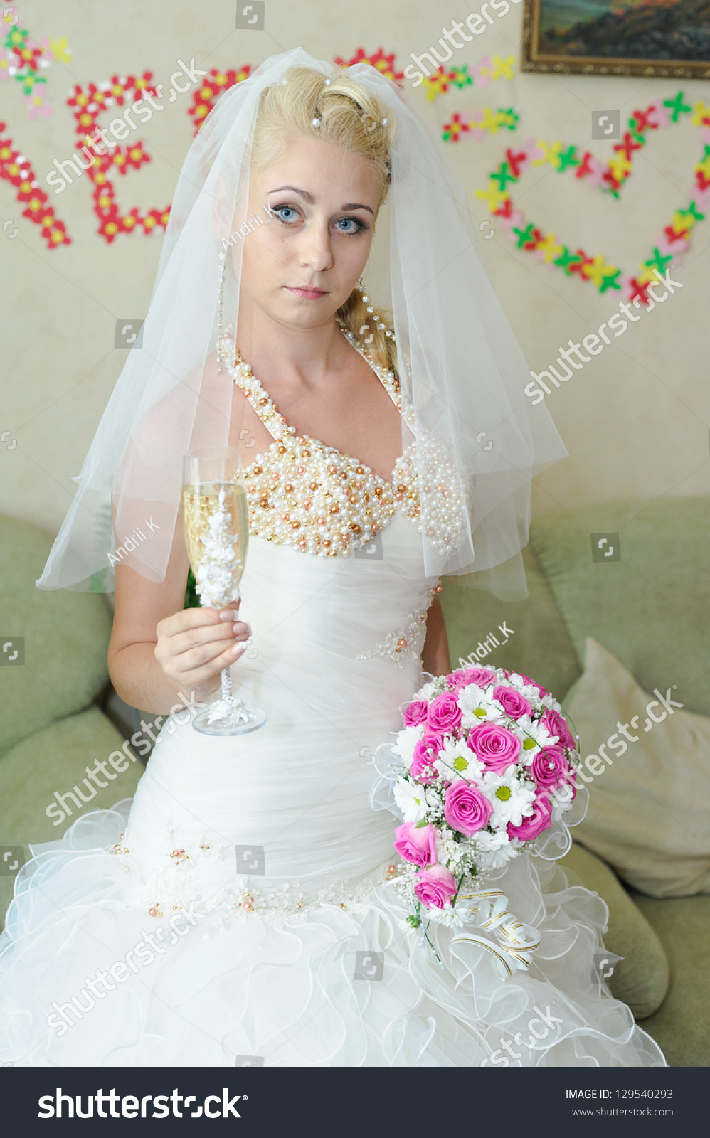 Happy Young Bride On Wedding Day Stock Photo Shutterstock