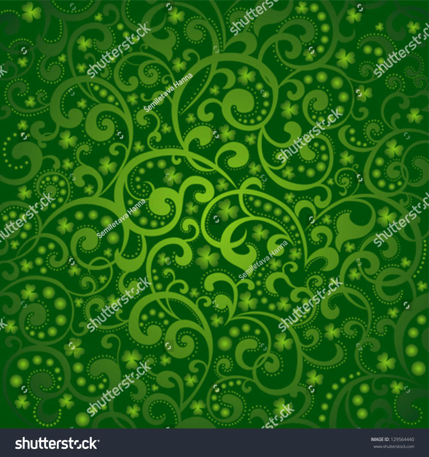 st patricks day background green colors stock vector 129564440