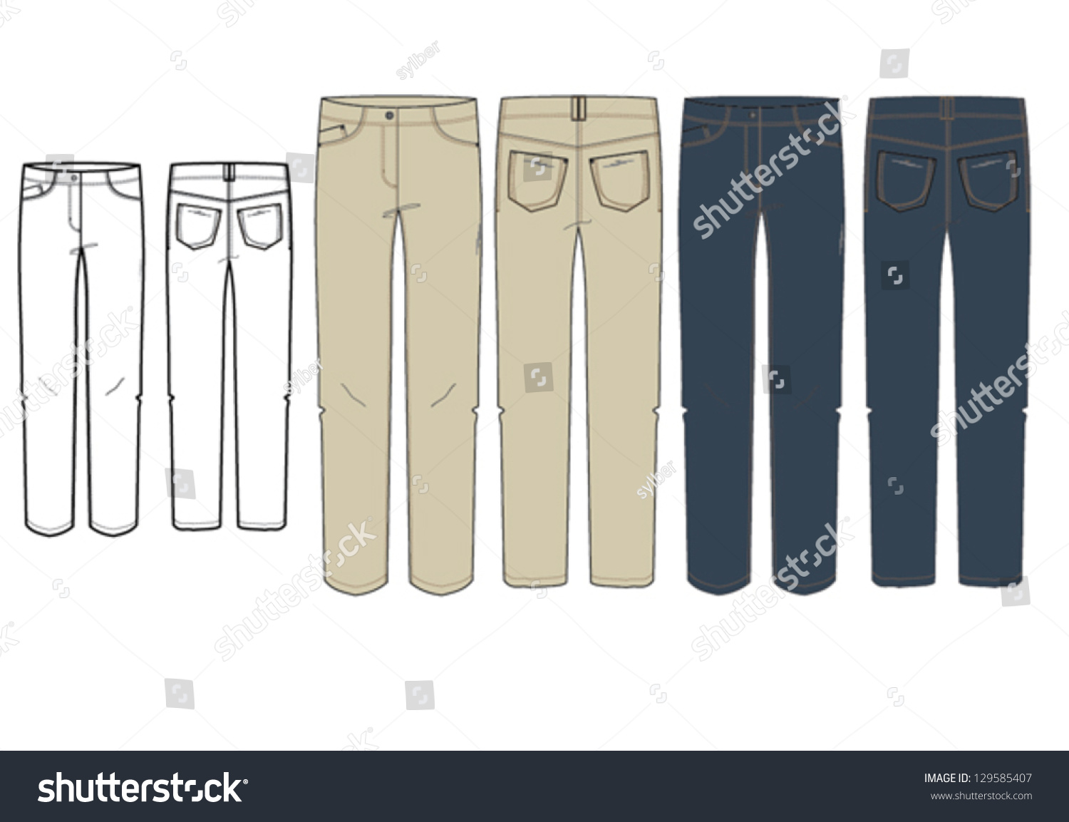Awesome Fashion Flat Sketches For Womens Trousers  Manmade Objects Objects