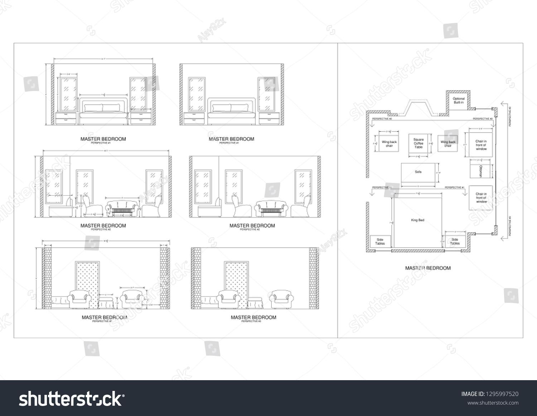 Royalty Free Stock Illustration Of Master Bedroom Elevation Stock