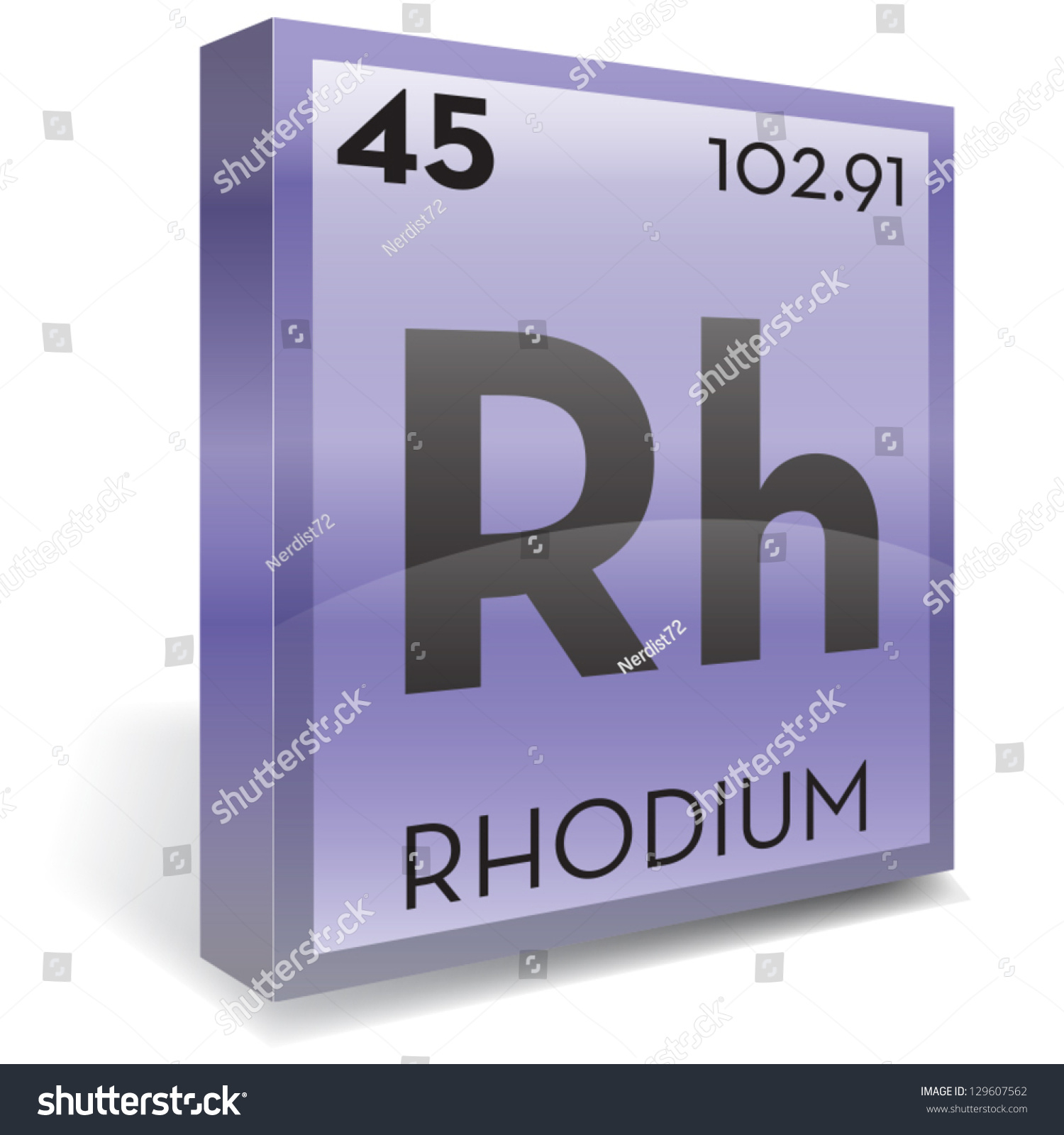 Rhodium Element Stock Vector Illustration 129607562 ... Rhodium Element Project