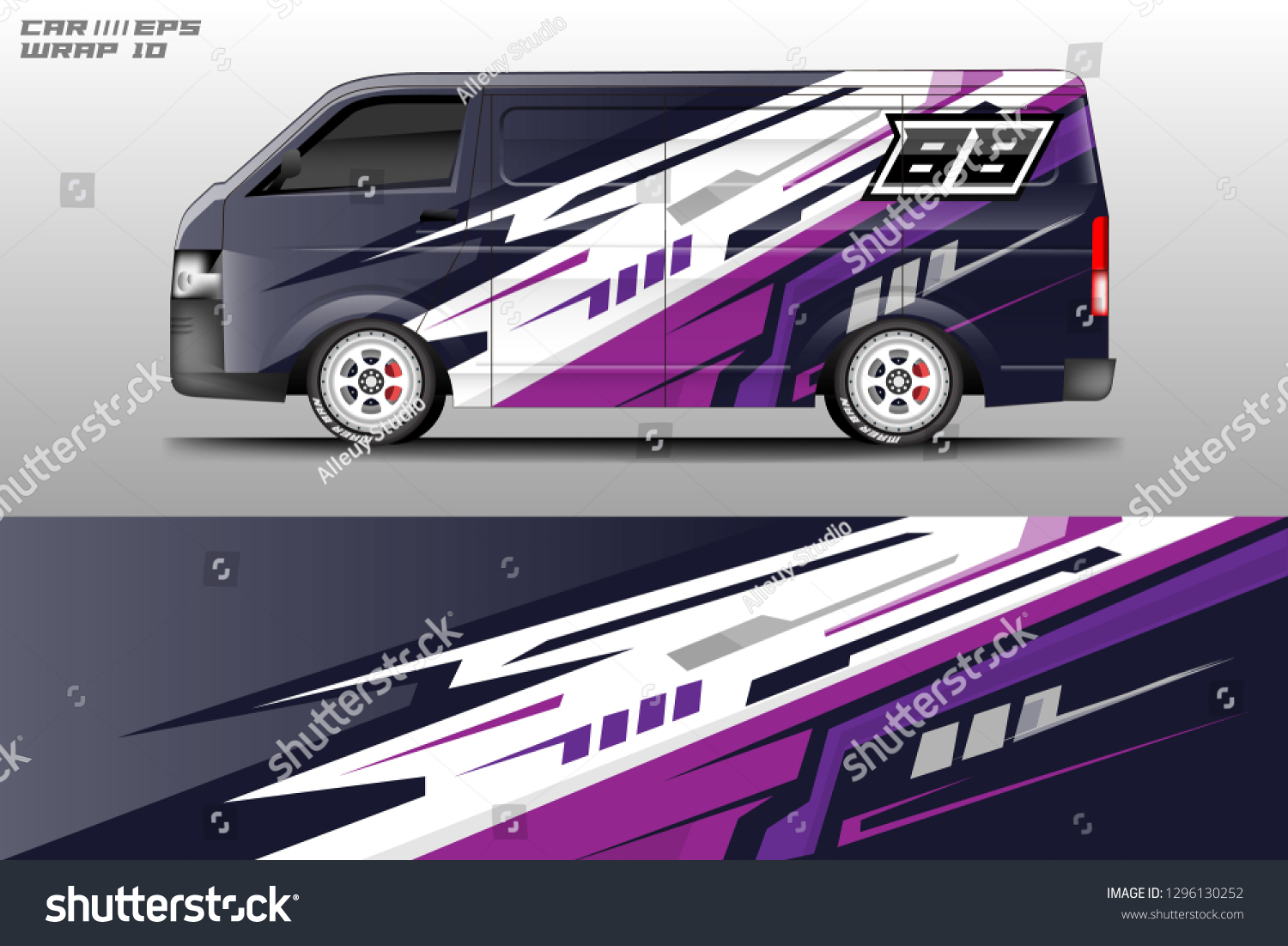Car decal sticker wrap design vector graphic abstract racing background designs best decal designs