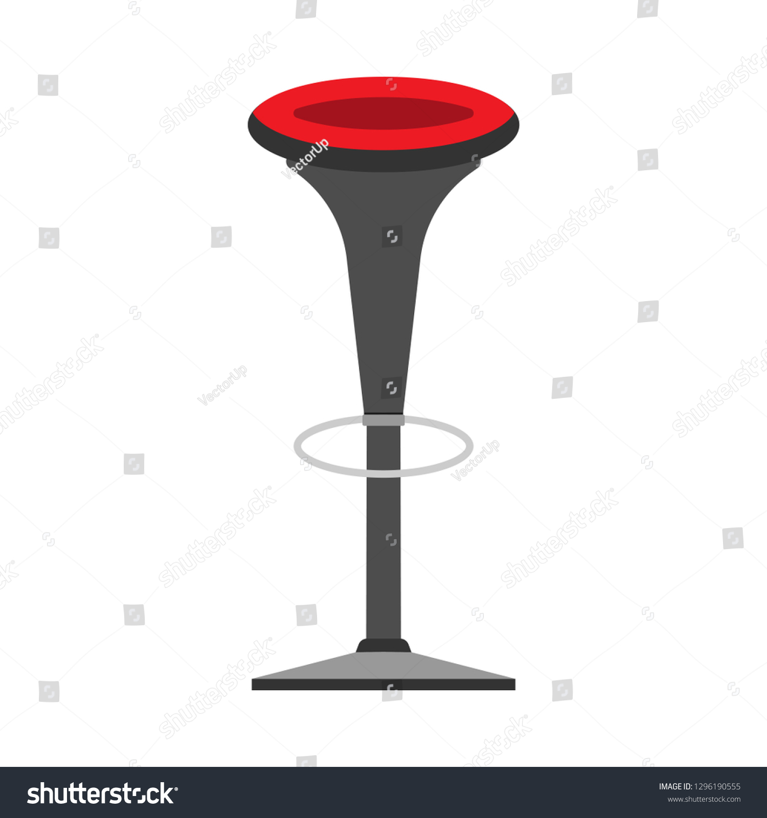 Bar Chair Style Decoration Symbol Element Stock Vector (Royalty