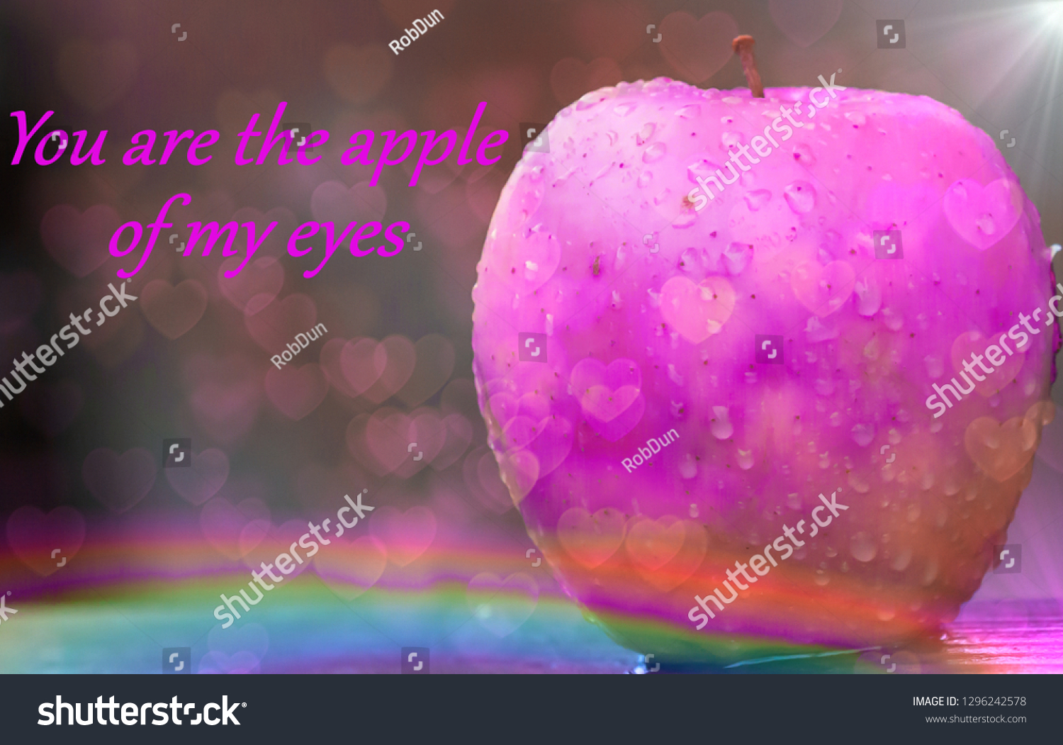 Picture Quotes You Apple My Eyes Stock Illustration 1296242578