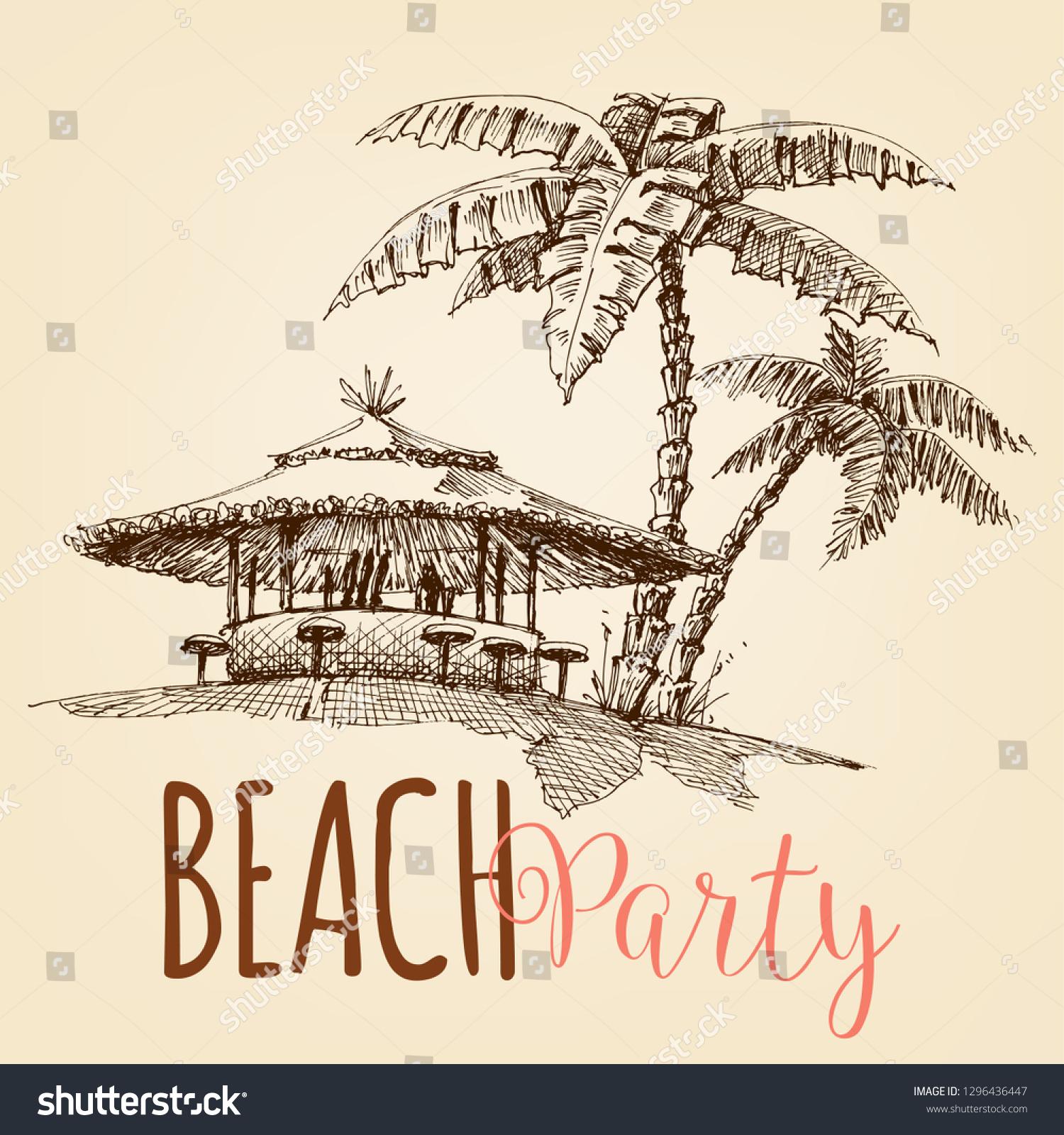 Vector De Stock Libre De Regalías Sobre Beach Party