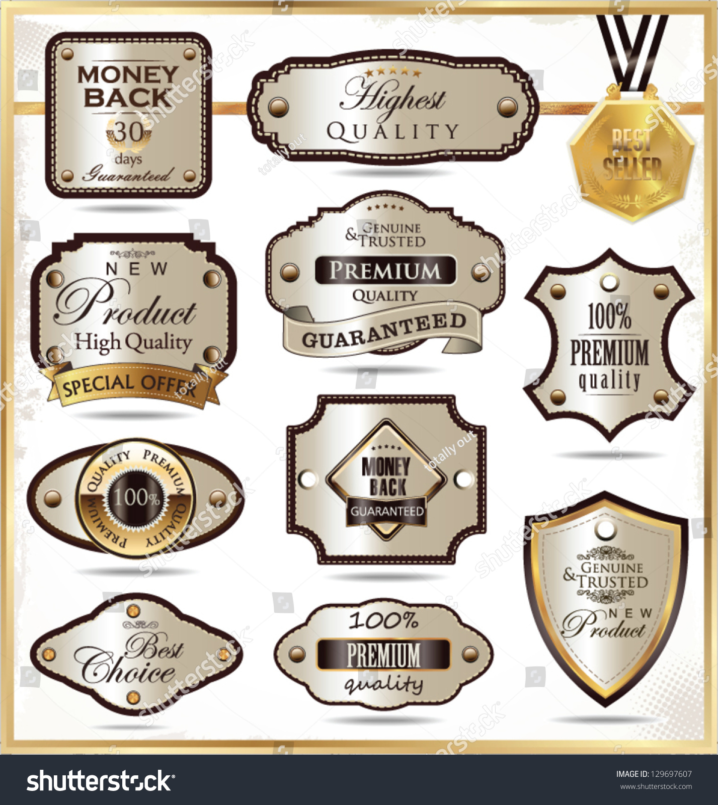 elegant labels stock vector royalty free 129697607 shutterstock