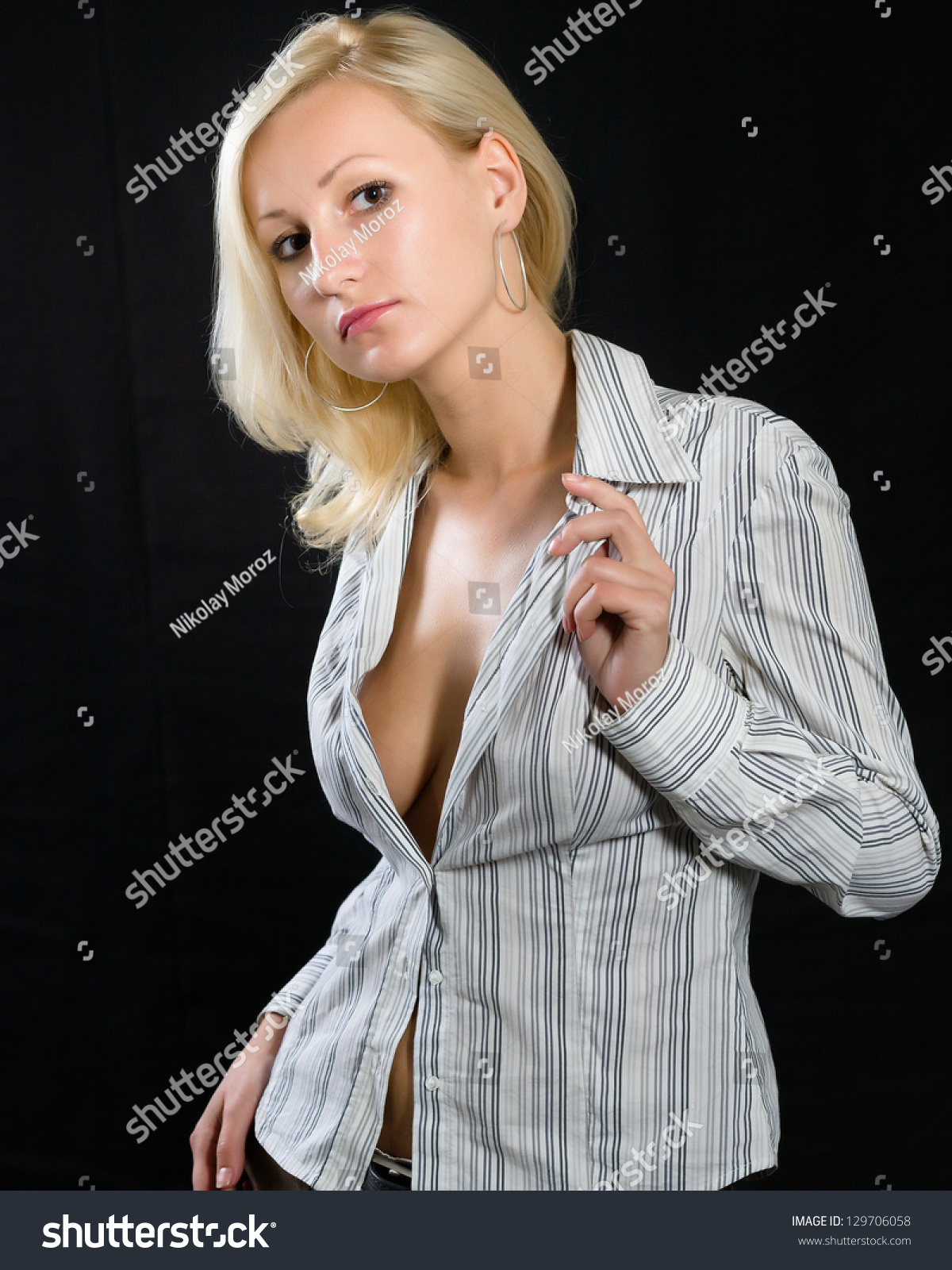 Woman With Blouse Unbuttoned 24
