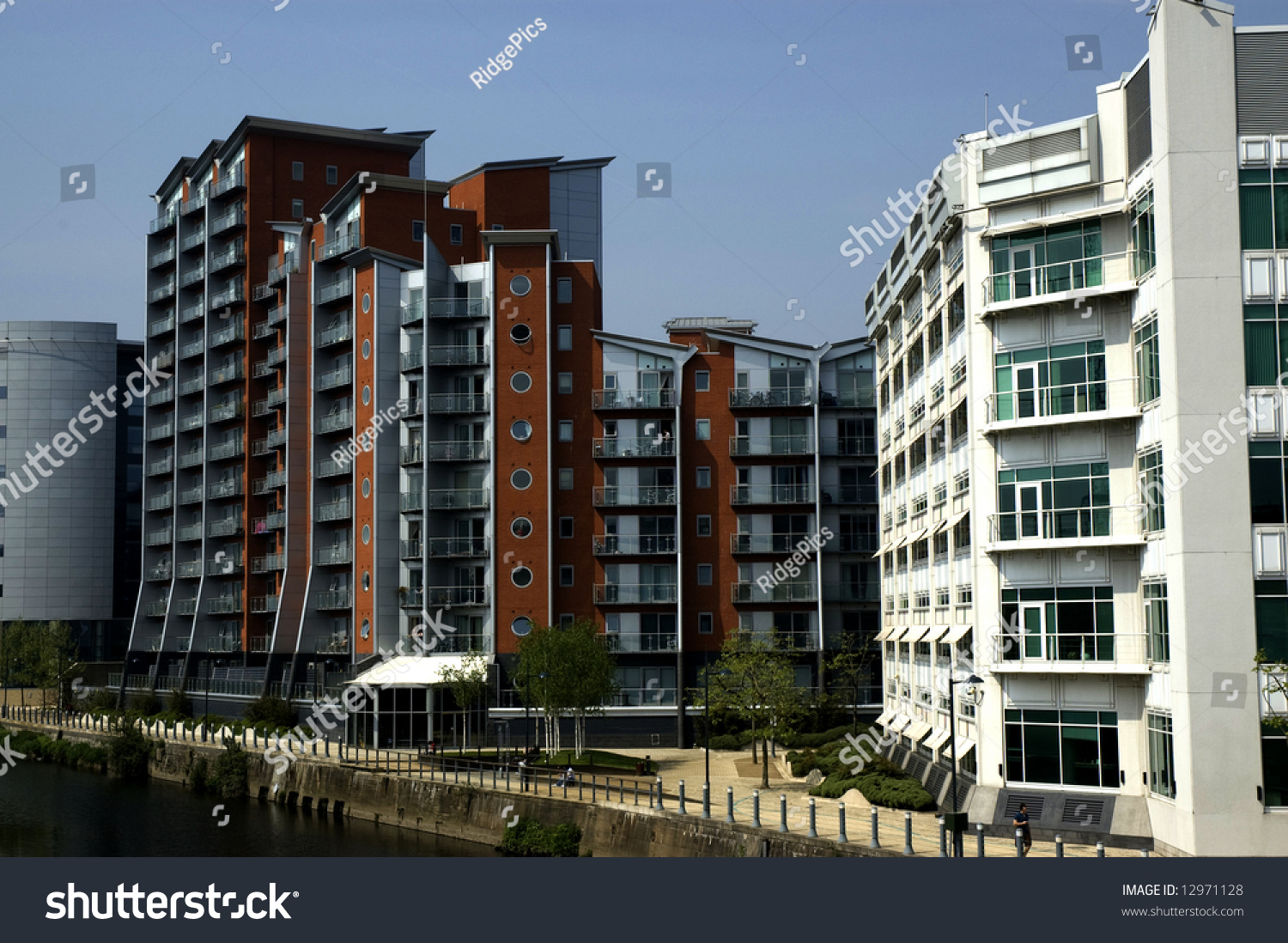 Stock photo hamburg germany riverside new - Riverside Homes