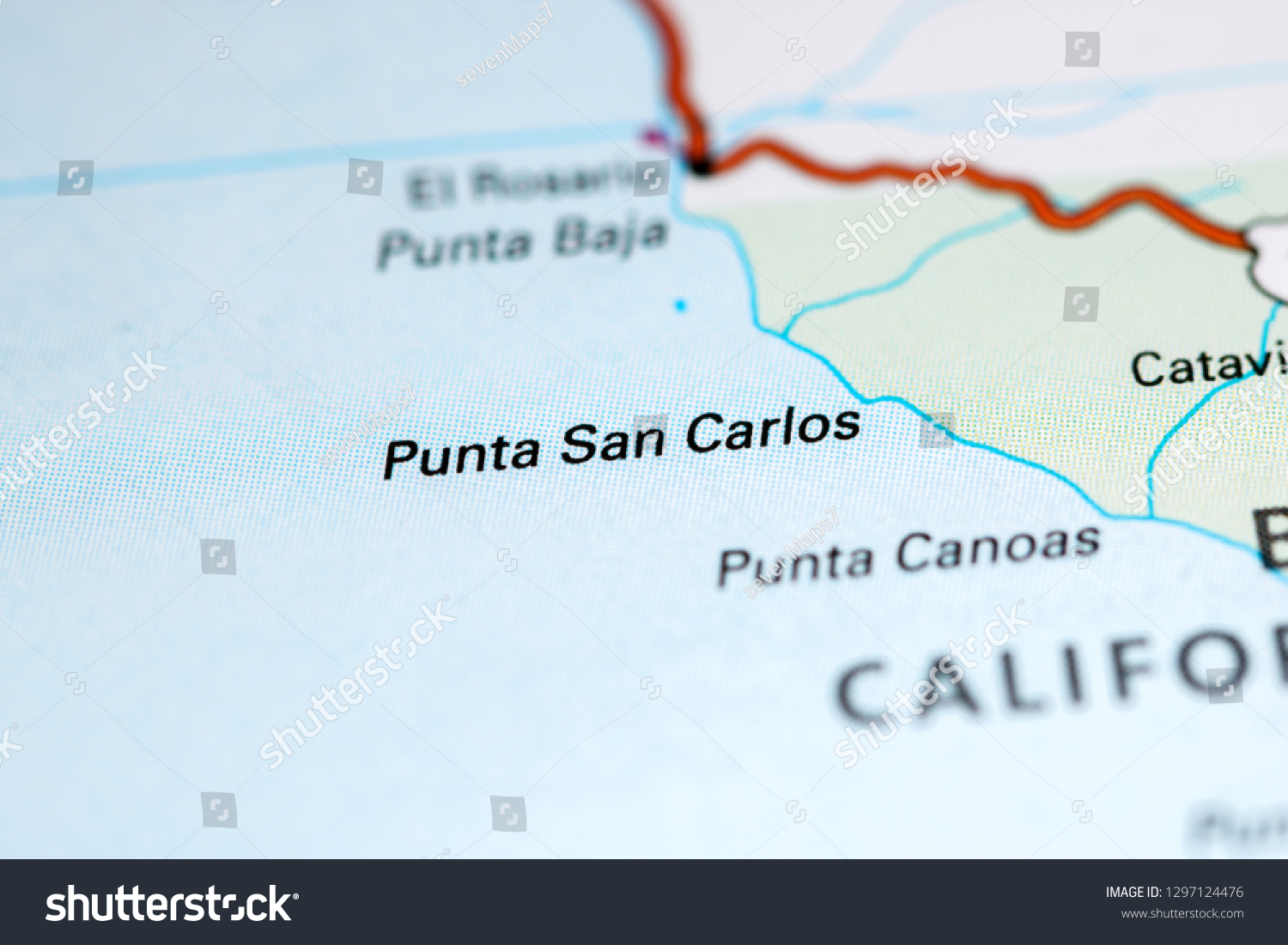 Punta San Carlos Mexico On Map Stock Photo (Edit Now ...